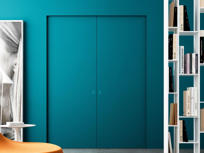 Porta scorrevole a scomparsa scorrevole centro parete a 2 - L invisibile porte ...