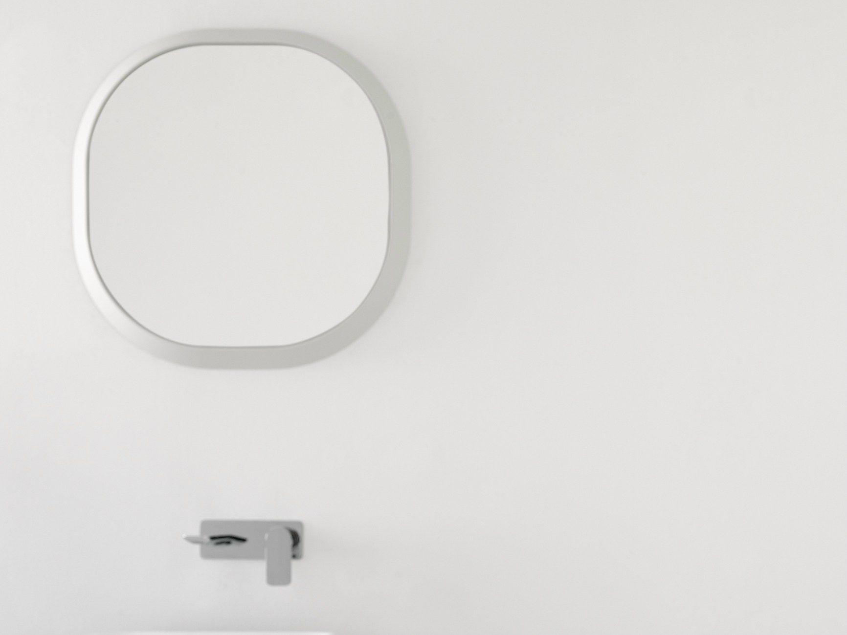 Imagens de #6A6761 Espelho moldurado para banheiro FLUENT Espelho redondo INBANI 1732x1299 px 3392 Bloco Cad Espelho Banheiro