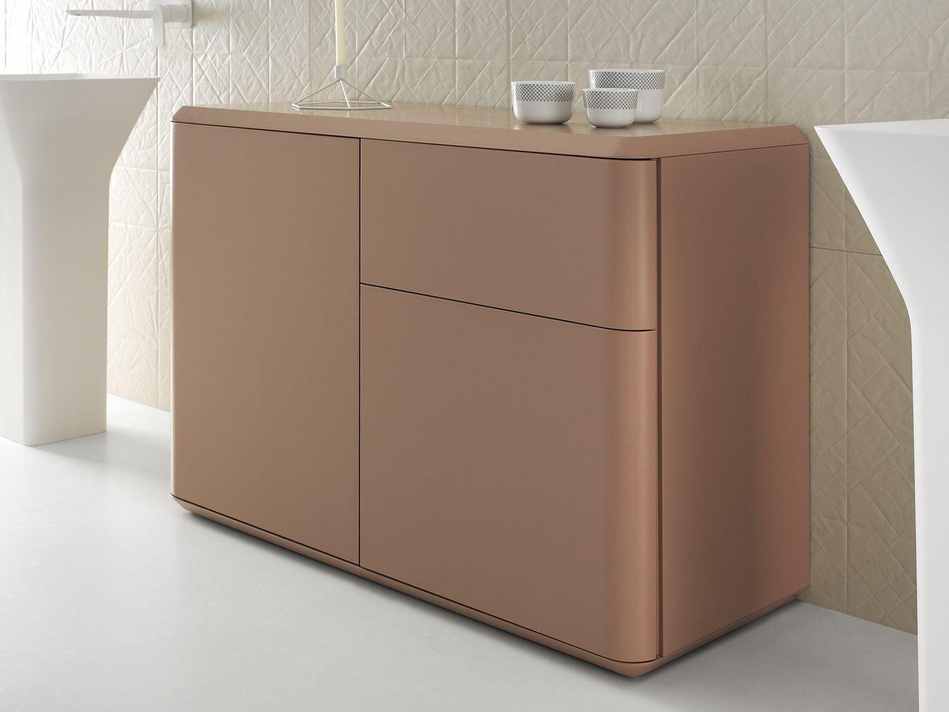 Fluent meuble pour salle de bain by inbani design arik levy for Meuble salle de bain avec porte