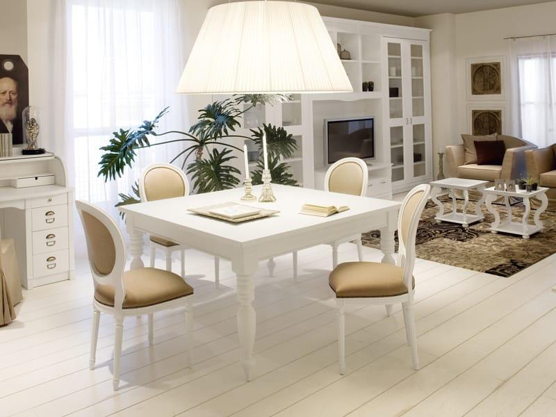 Tavolo quadrato legno tavolo da pranzo quadrato x cm in - Tavolo da pranzo quadrato ...