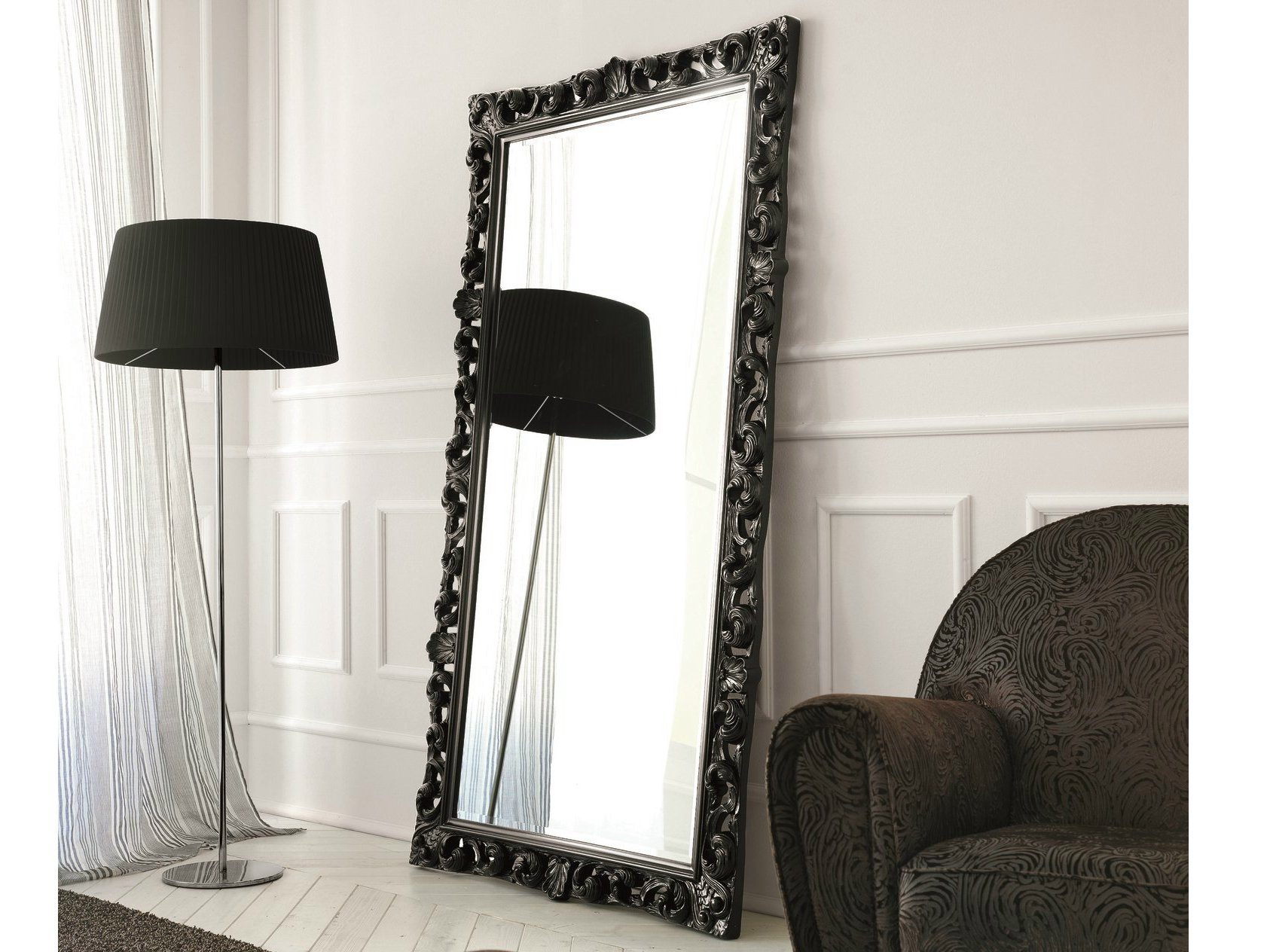 Miroir rectangulaire de style baroque bombo collection for Miroir style baroque