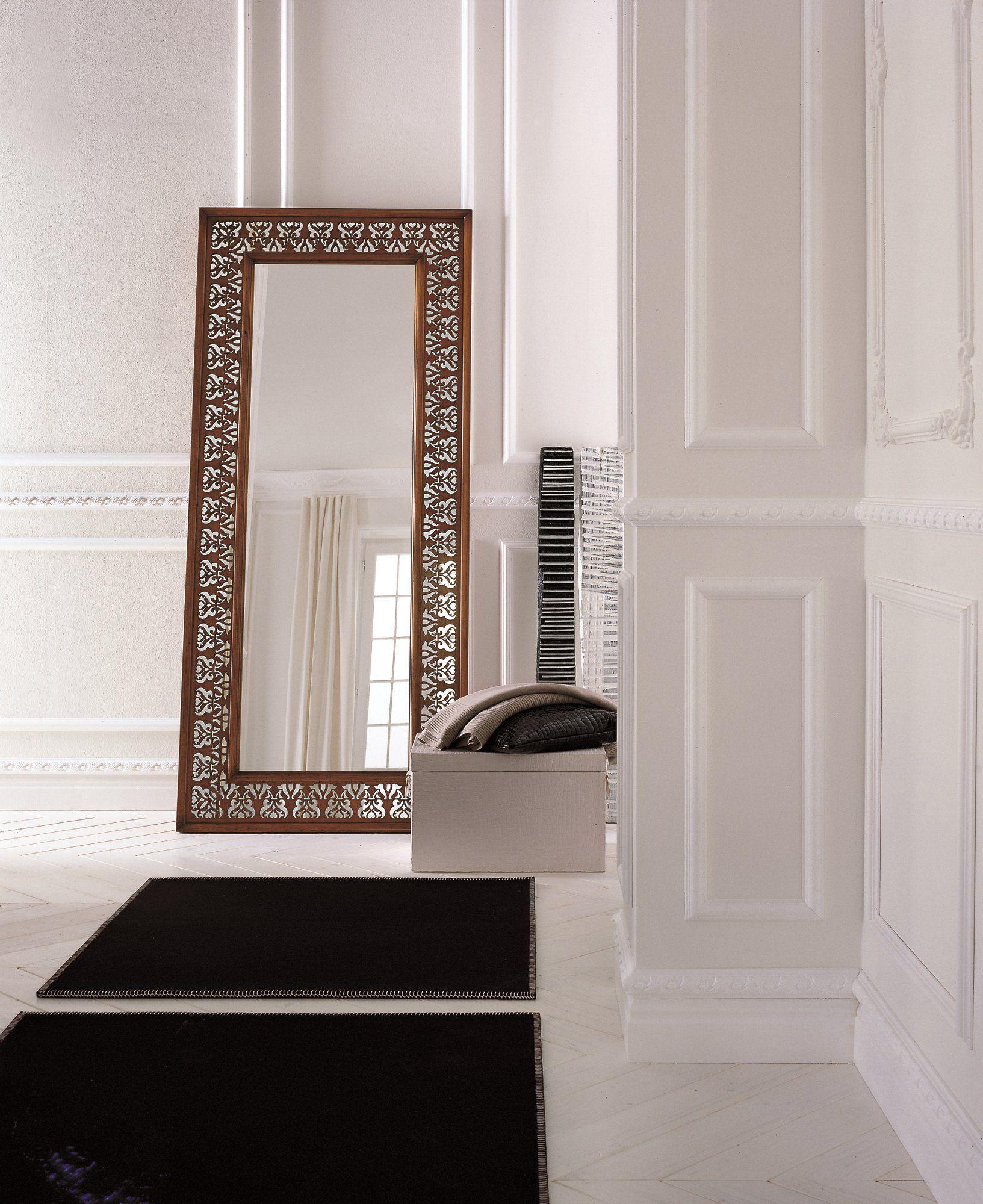Specchio rettangolare in noce collezione la scala by dall for Specchio noce