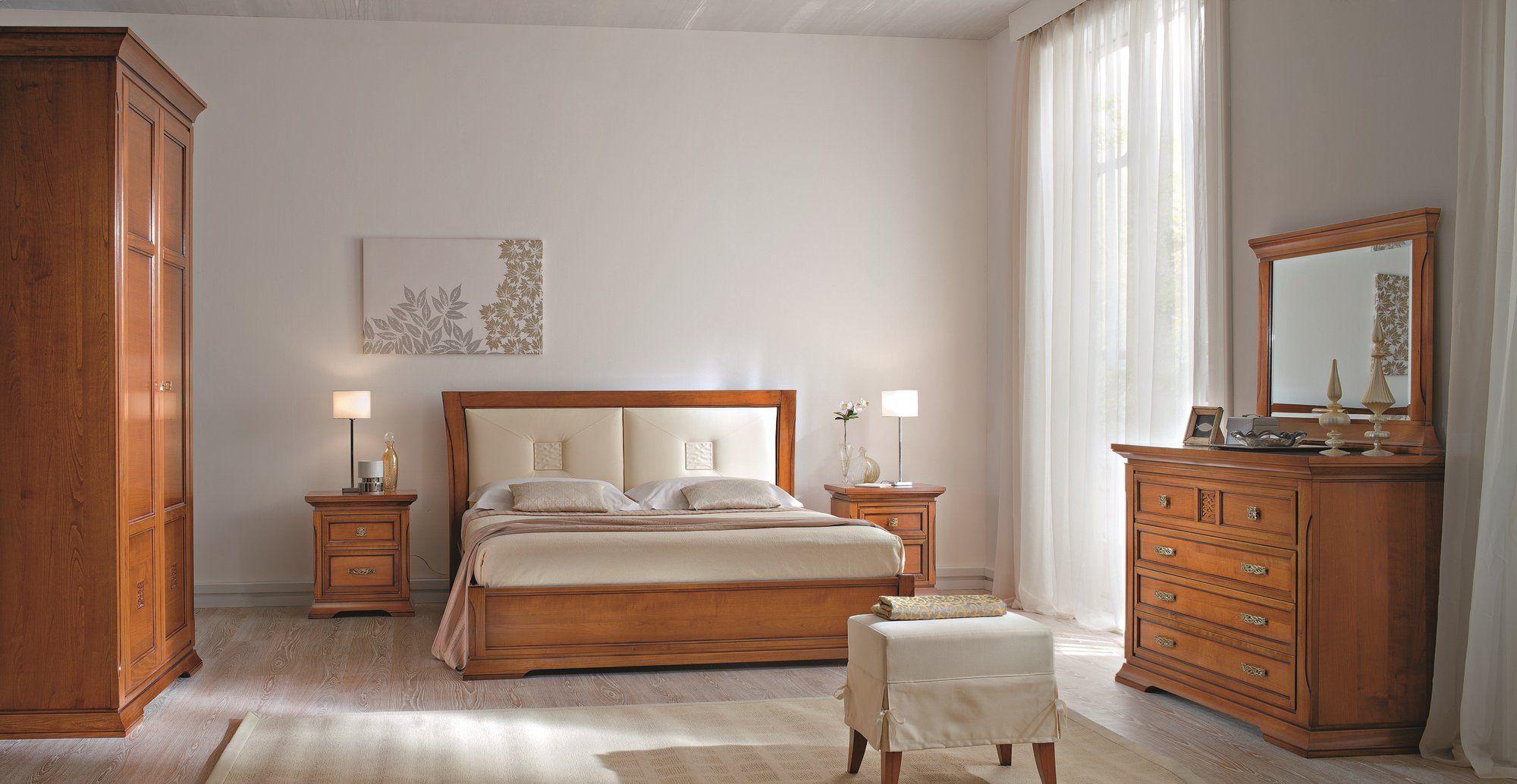 Bohemia letto con testiera imbottita by dall agnese design - Camera da letto in ciliegio ...