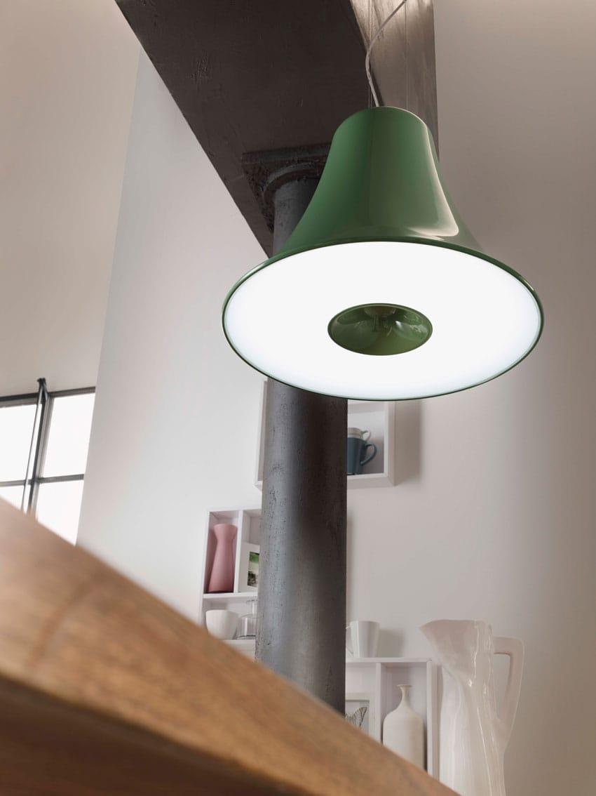 Lampada a sospensione in poliuretano campana by lucente - Lampade x cucina ...