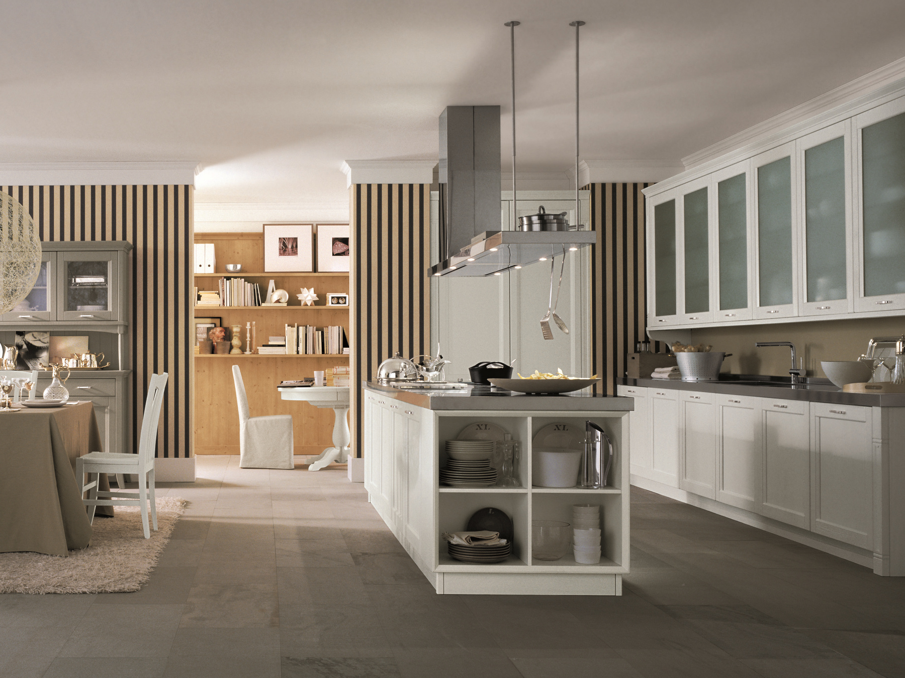 Küche aus Holz mit Kücheninsel NUOVO MONDO N01 by Scandola Mobili