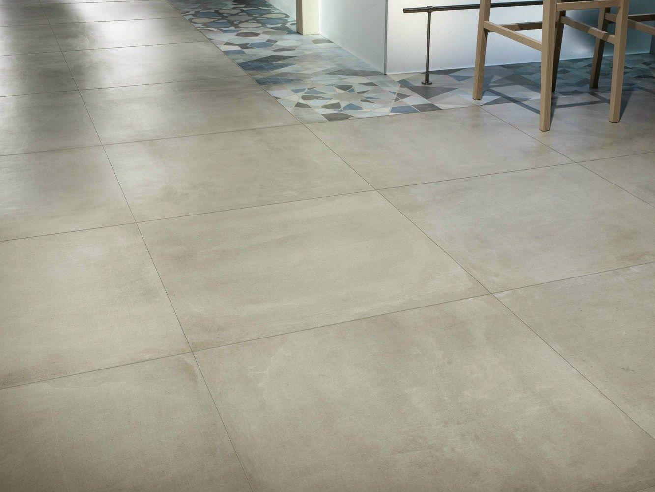 Pavimento/rivestimento in gres porcellanato effetto cemento ONE INDIGO by Ceramiche Caesar
