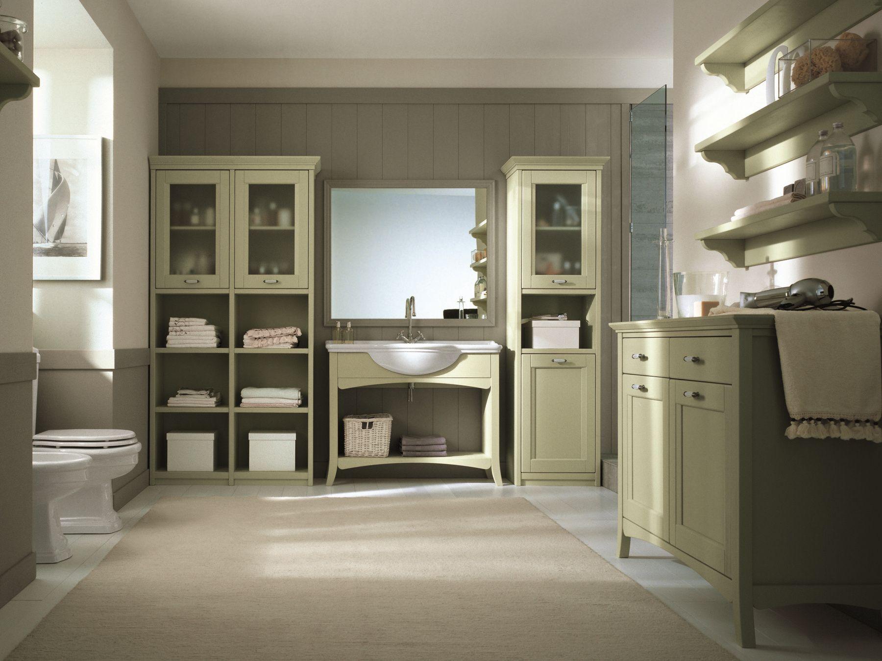 Arredo bagno completo in legno massello nuovo mondo n18 by for Arredo bagno in legno