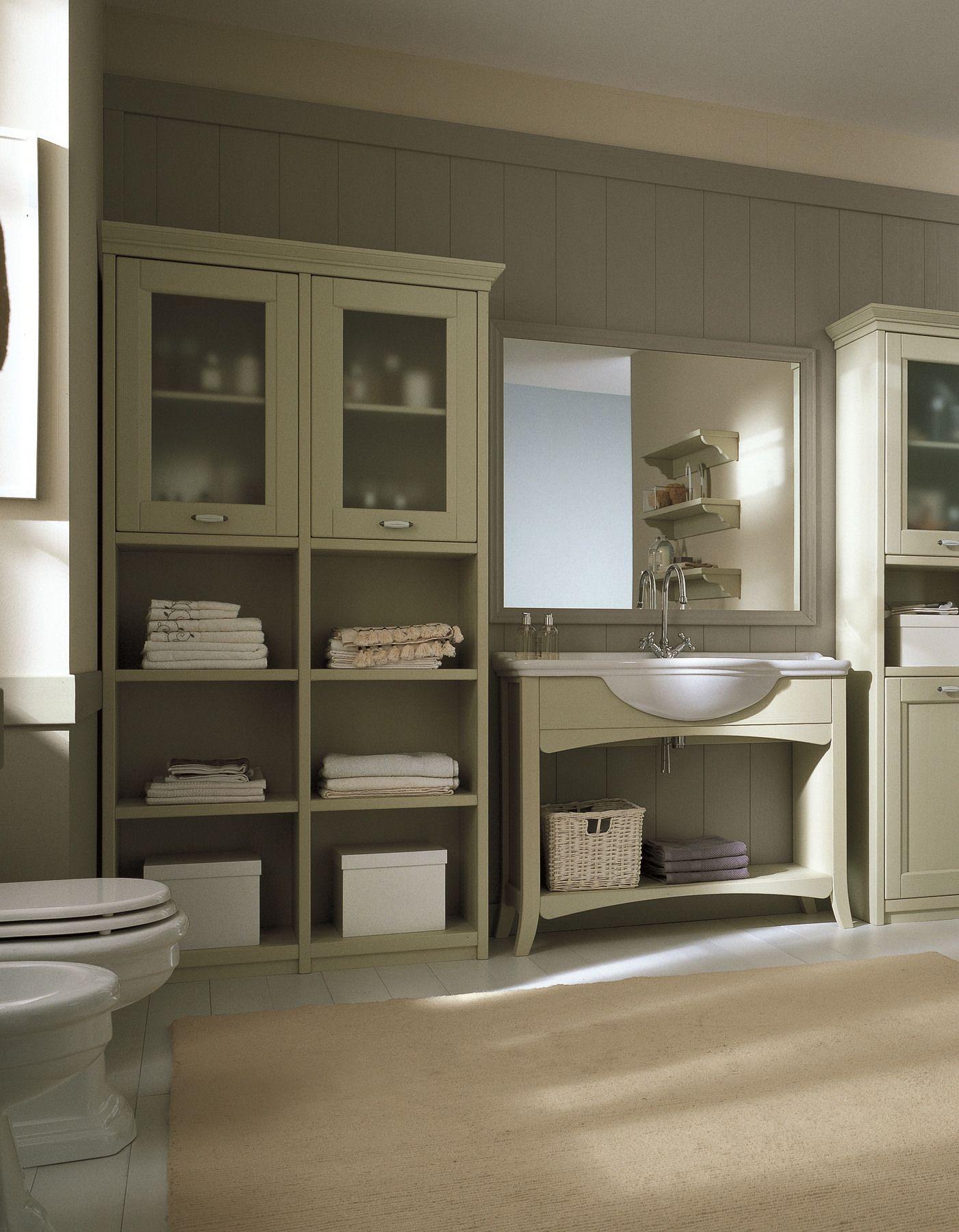 Arredo bagno completo in legno massello nuovo mondo n18 by - Mobili bagno in legno ...