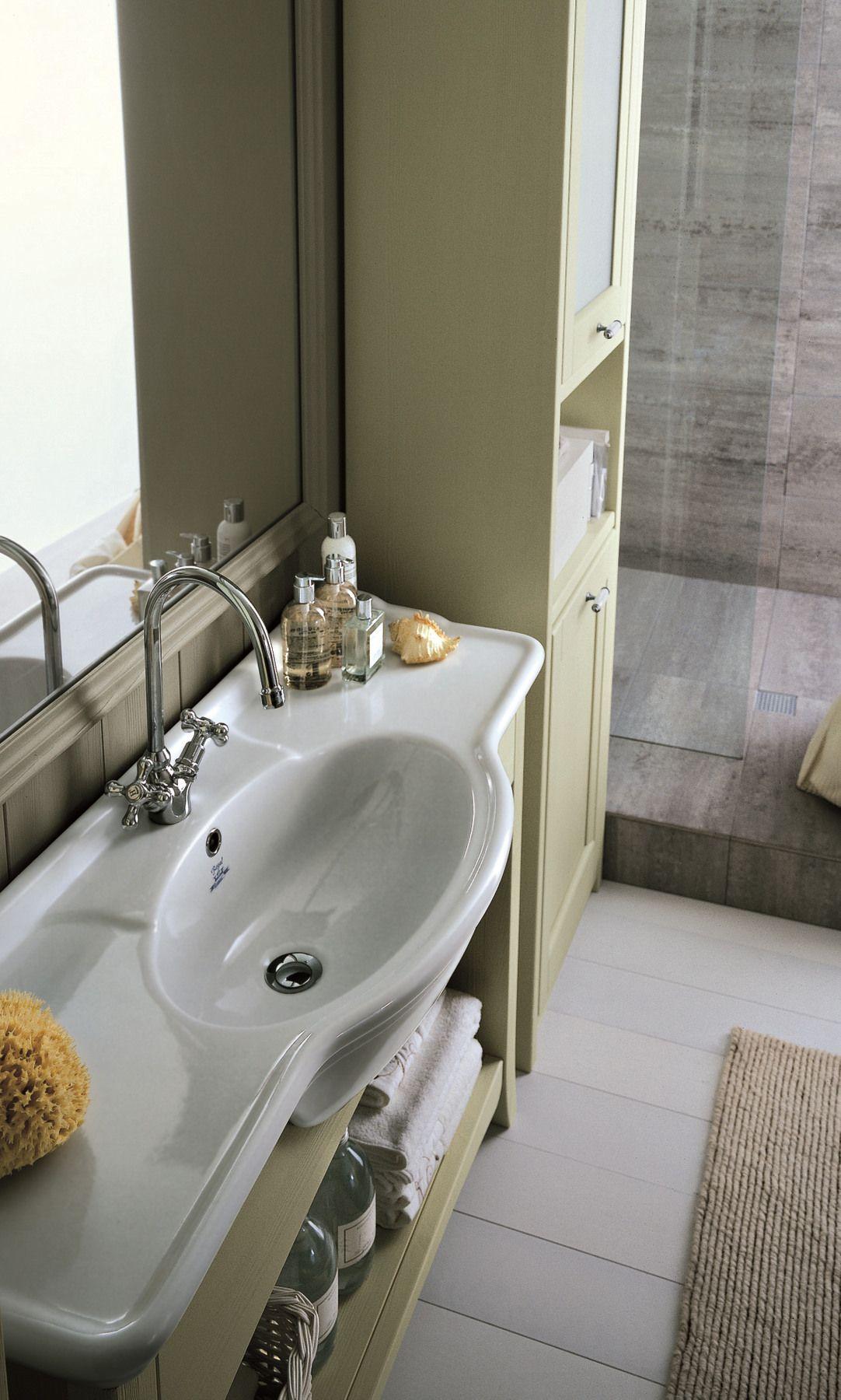 Arredo bagno completo in legno massello nuovo mondo n18 by for Arredo bagno completo