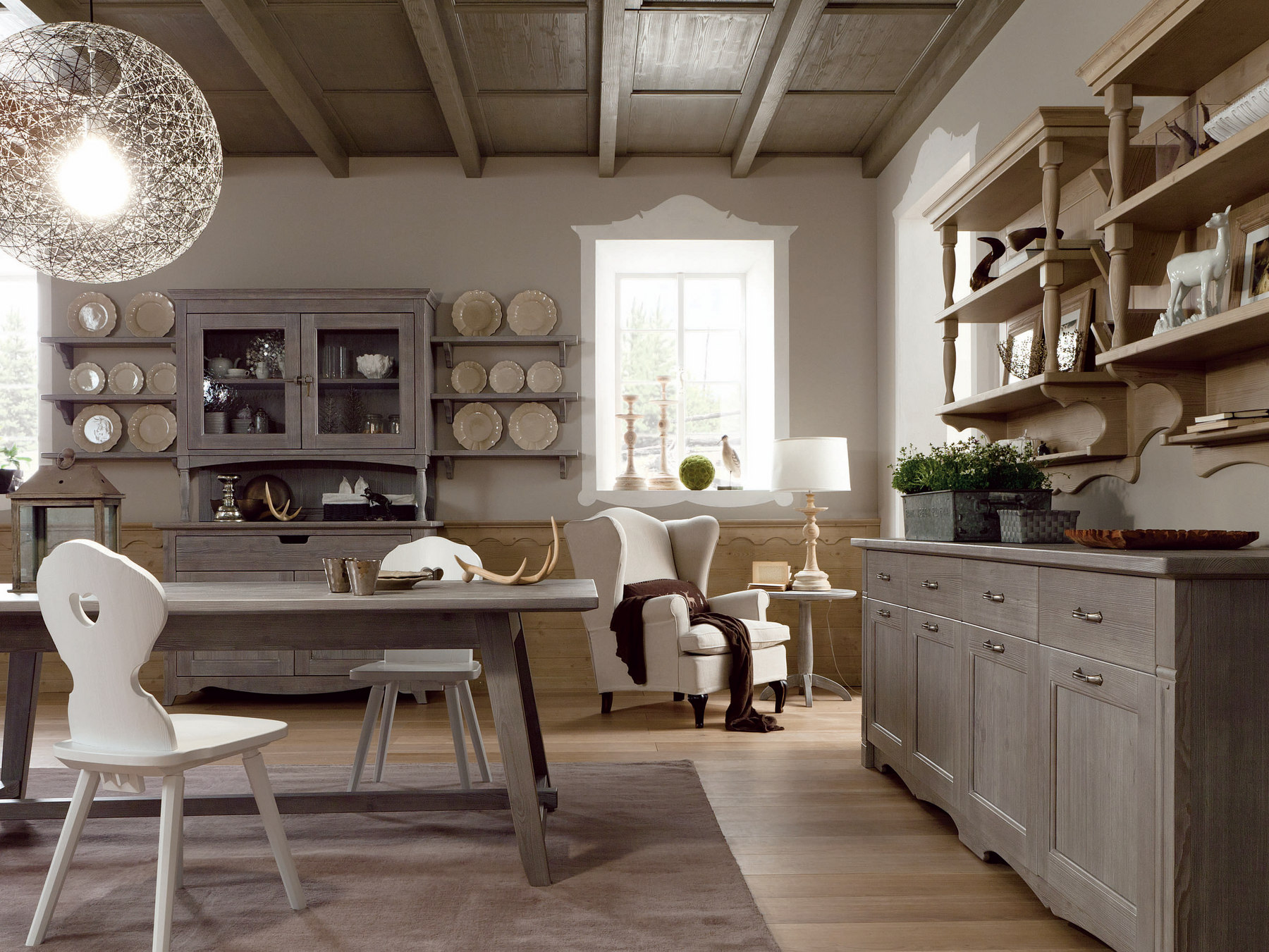 Cucina in stile rustico tabi t04 by scandola mobili for Scandola mobili