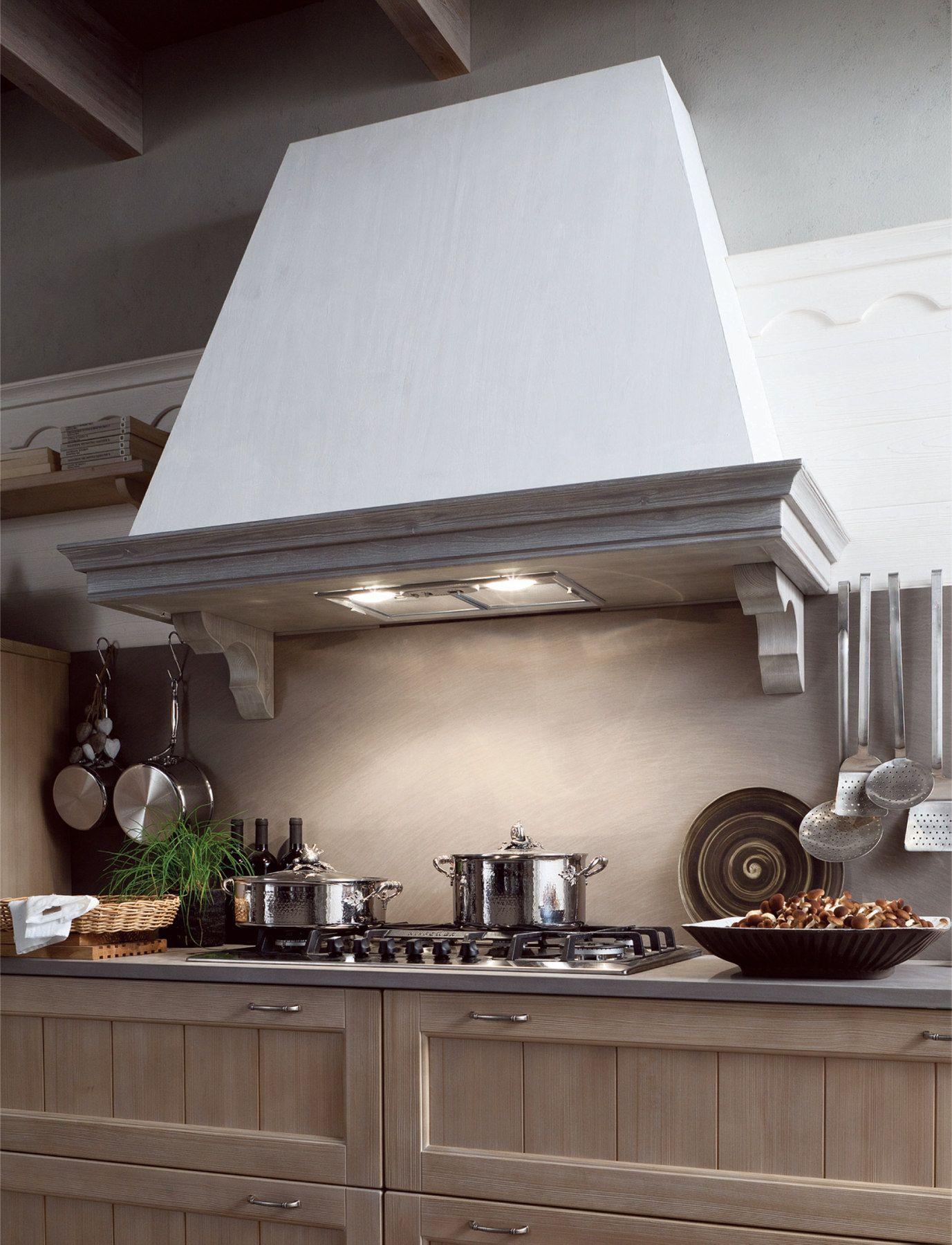 Cucina in stile rustico con penisola TABIÀ T01 by Scandola Mobili