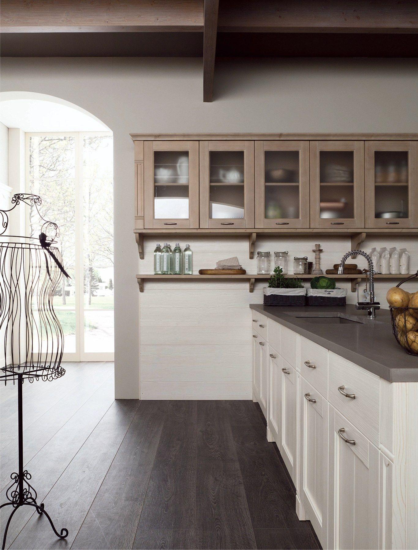 Cucina in stile rustico con penisola tabi t01 by scandola for Scandola mobili