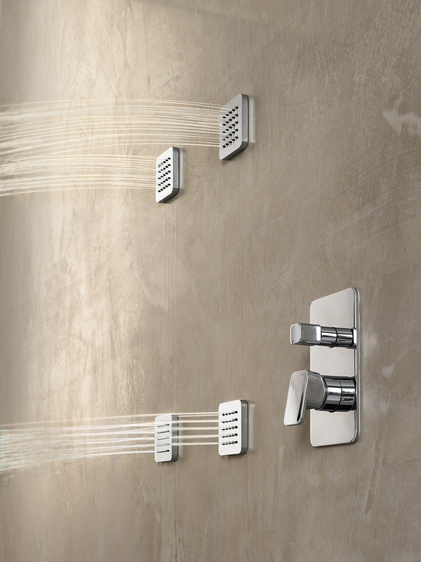 Soffione laterale a muro cromato collezione free shower by - Nobili rubinetterie bagno ...
