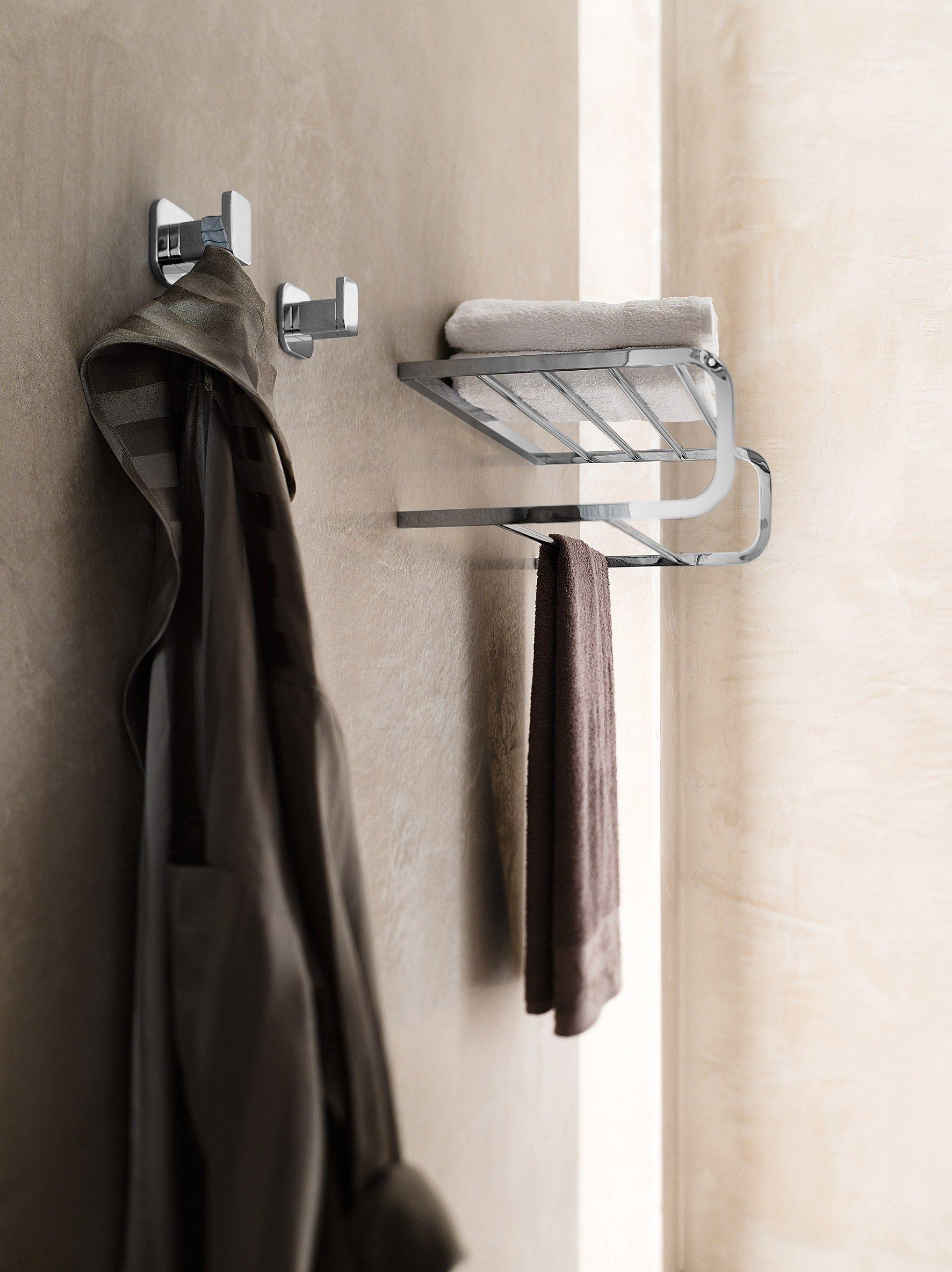 Porta accappatoio porta asciugamani collezione plus by - Porta accappatoio da doccia ...