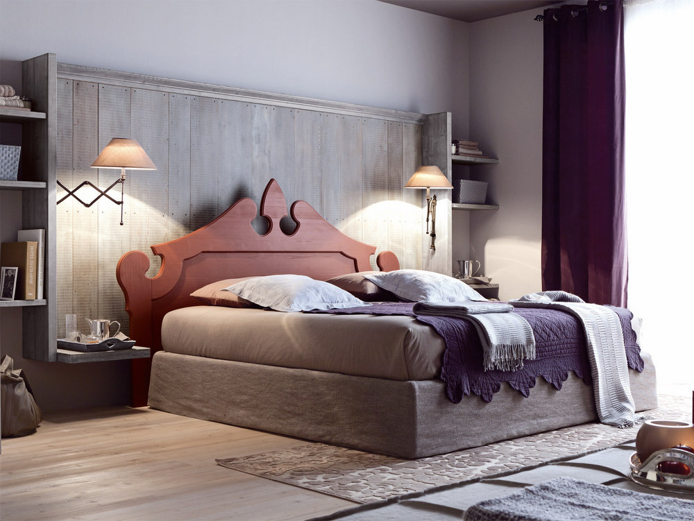 Camera da letto in legno nuovo mondo n06 collezione nuovo for Camera letto legno