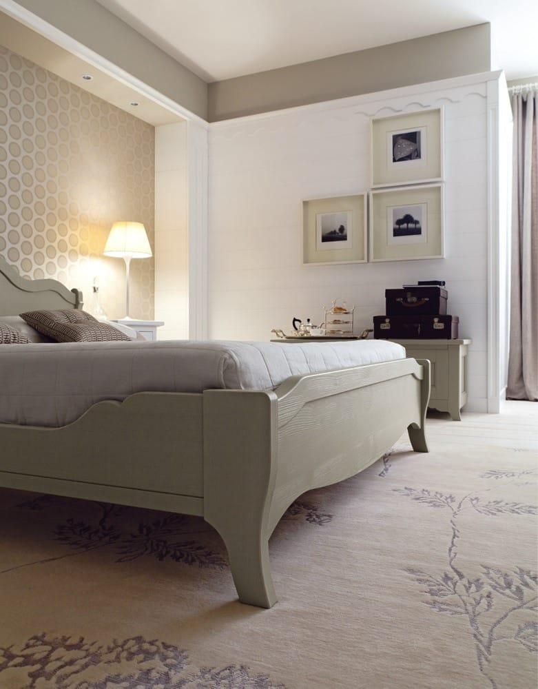 Camera da letto in legno NUOVO MONDO N07 by Scandola Mobili