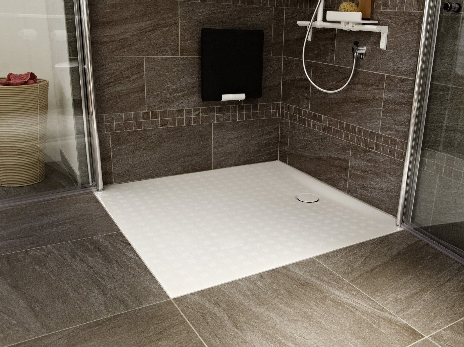 bettefloor side rectangular shower tray by bette design. Black Bedroom Furniture Sets. Home Design Ideas