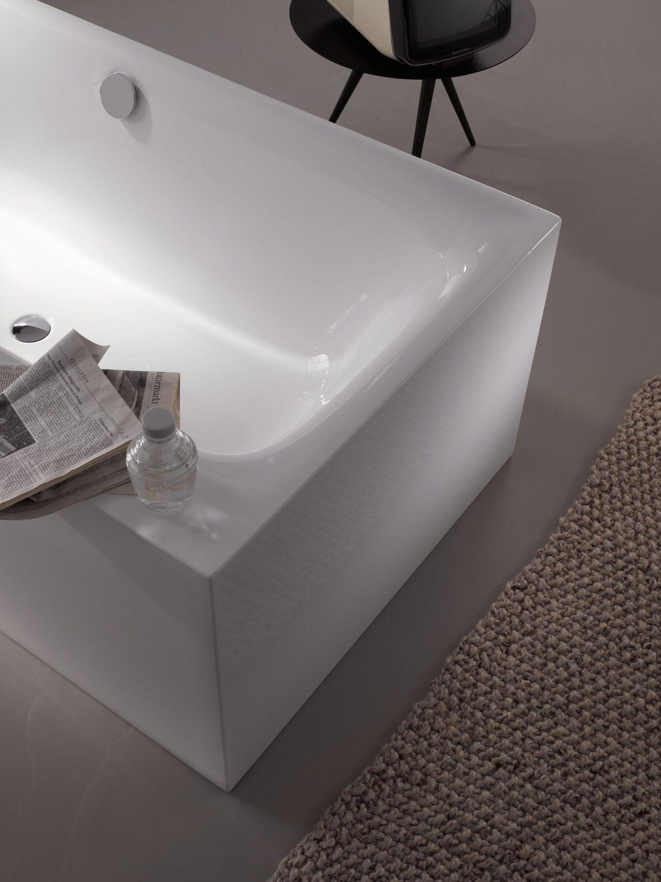 Vasca da bagno centro stanza in acciaio smaltato bettelux silhouette side by bette design - Vasche da bagno in acciaio smaltato ...