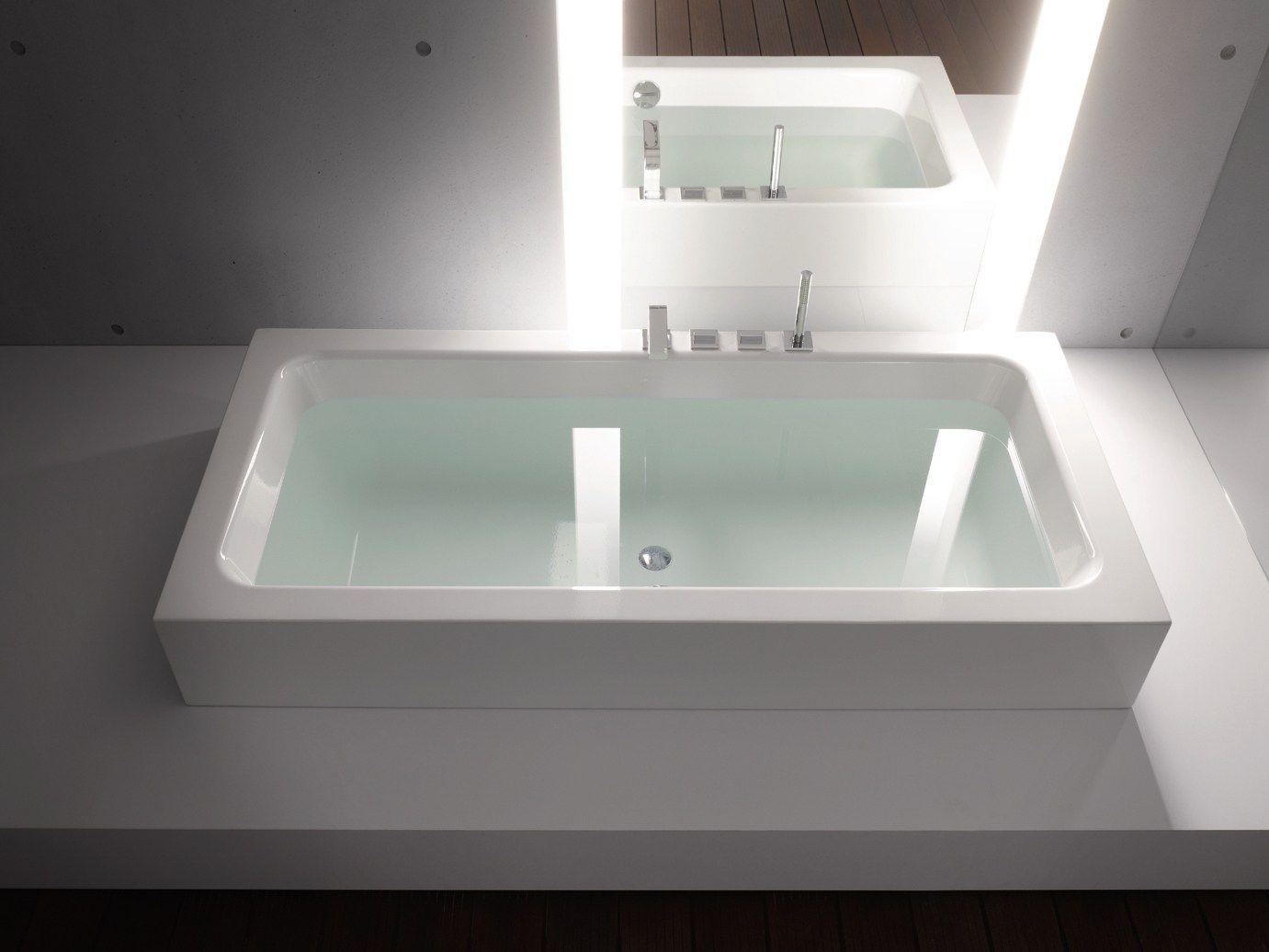 baignoire semi encastr e betteone highline collection. Black Bedroom Furniture Sets. Home Design Ideas