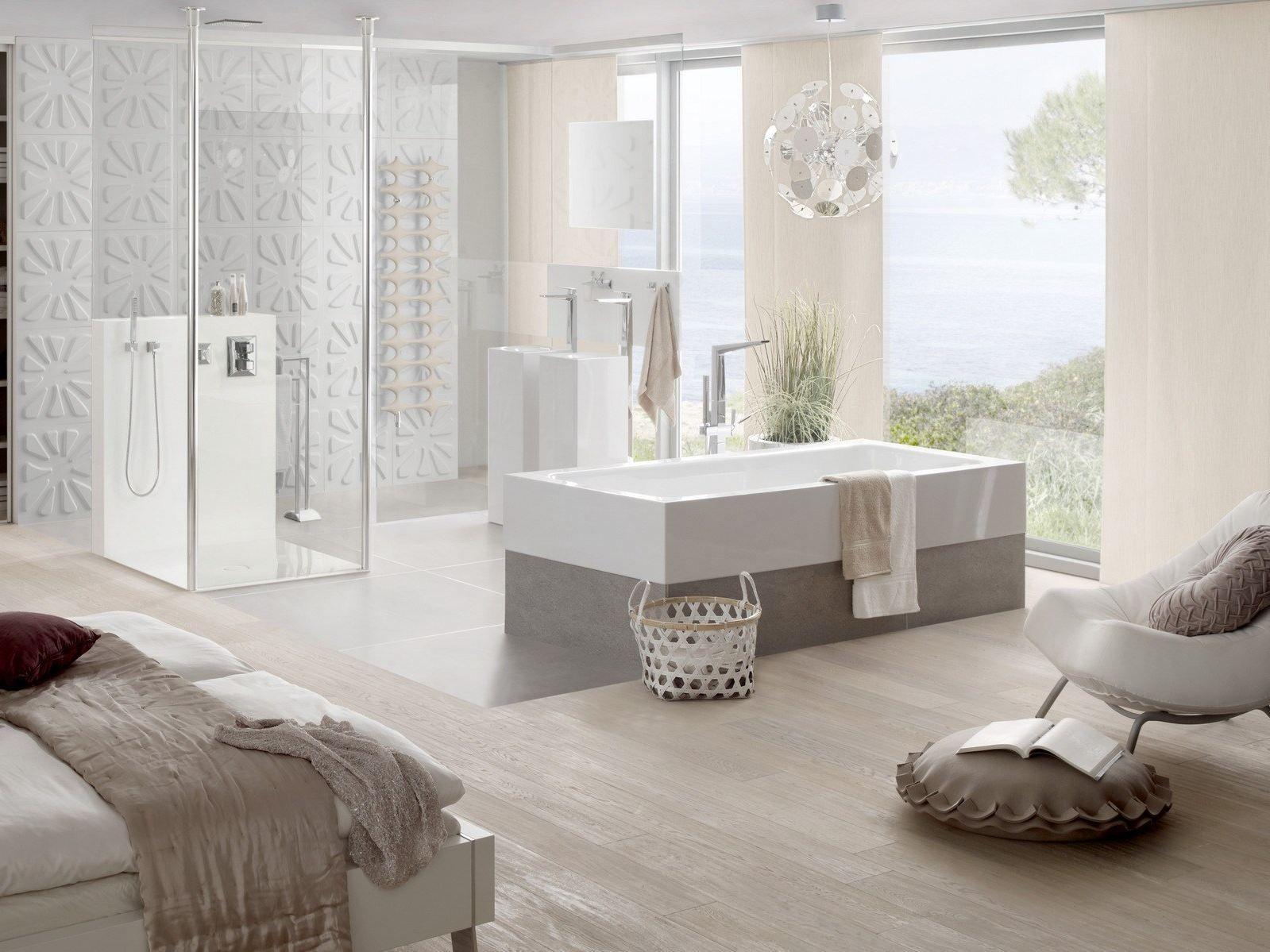 Vasca da bagno a semincasso BETTEONE HIGHLINE by Bette design Tesseraux + Par...