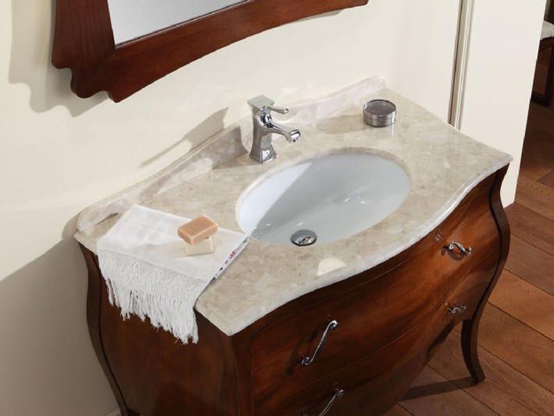 Mueble bajo lavabo de madera con cajones vanity 3 by for Mueble lavabo madera