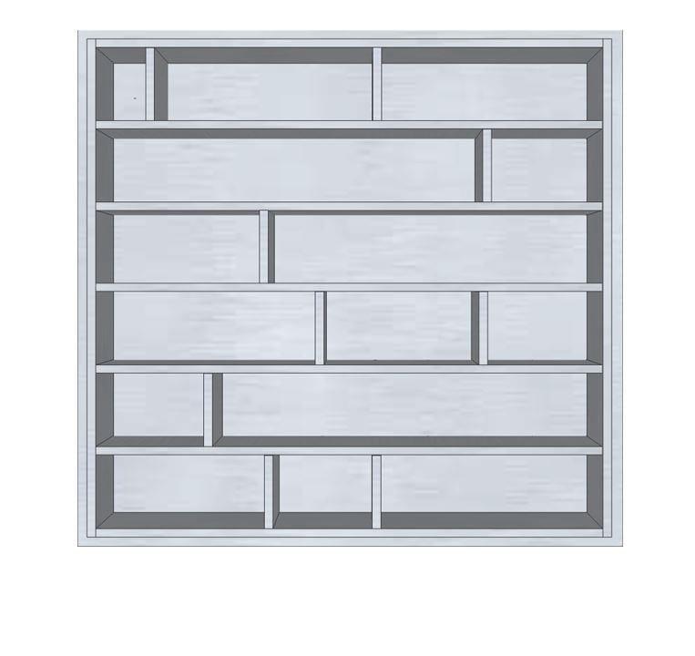 tag re pour cd sur mesure en bois multi niveau etag re. Black Bedroom Furniture Sets. Home Design Ideas
