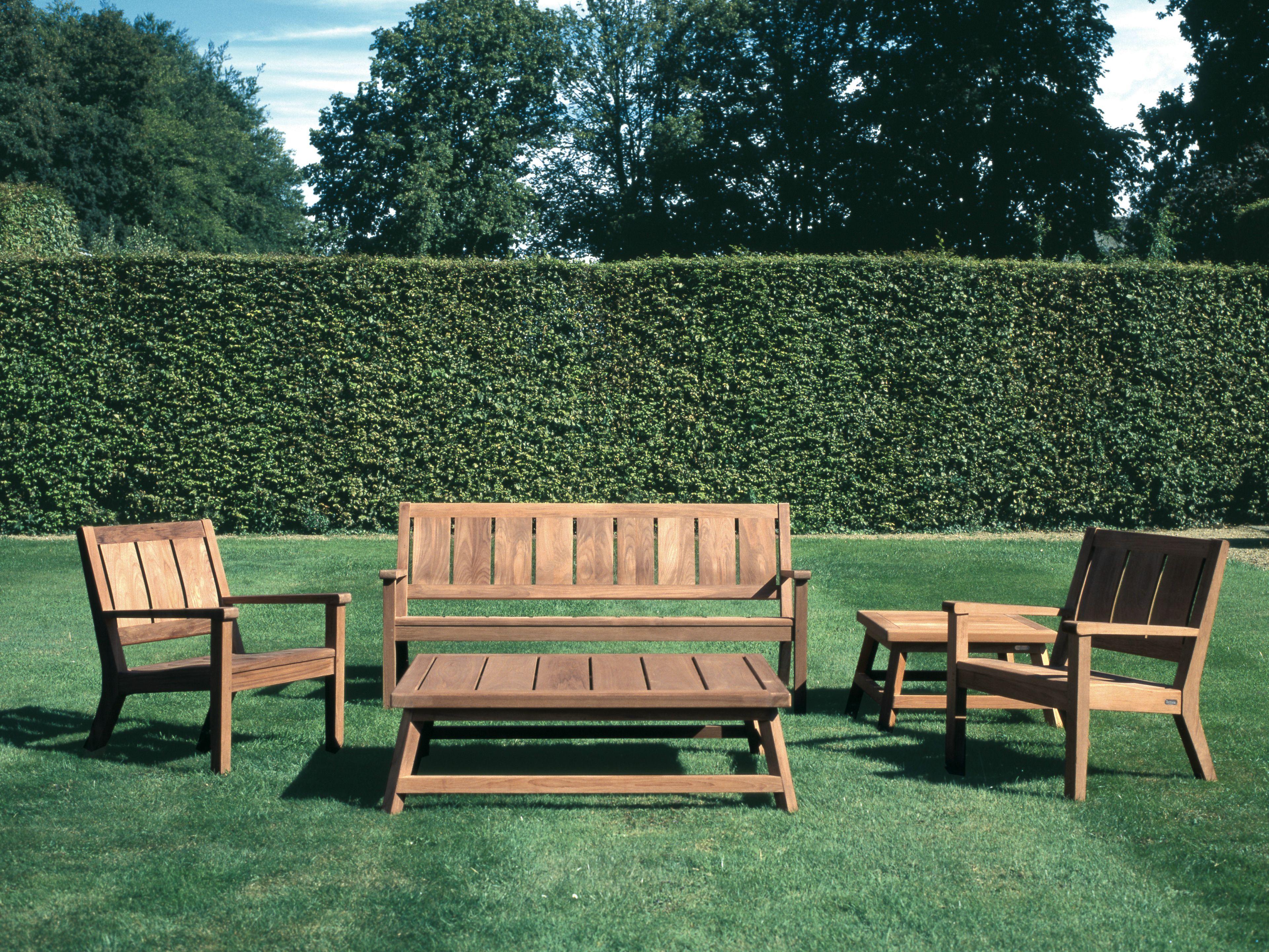Somerset banc de jardin by tectona for Banc en teck pour jardin