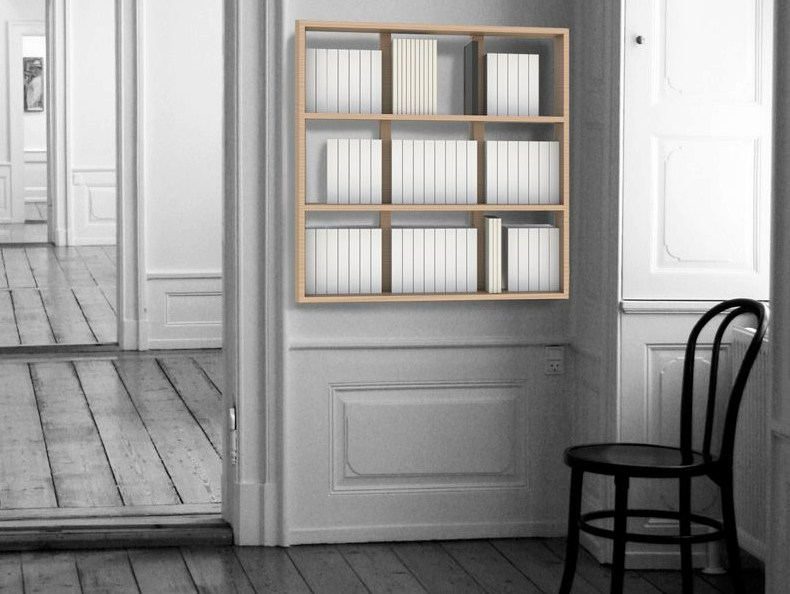 wall book biblioth que suspendue by malherbe edition. Black Bedroom Furniture Sets. Home Design Ideas