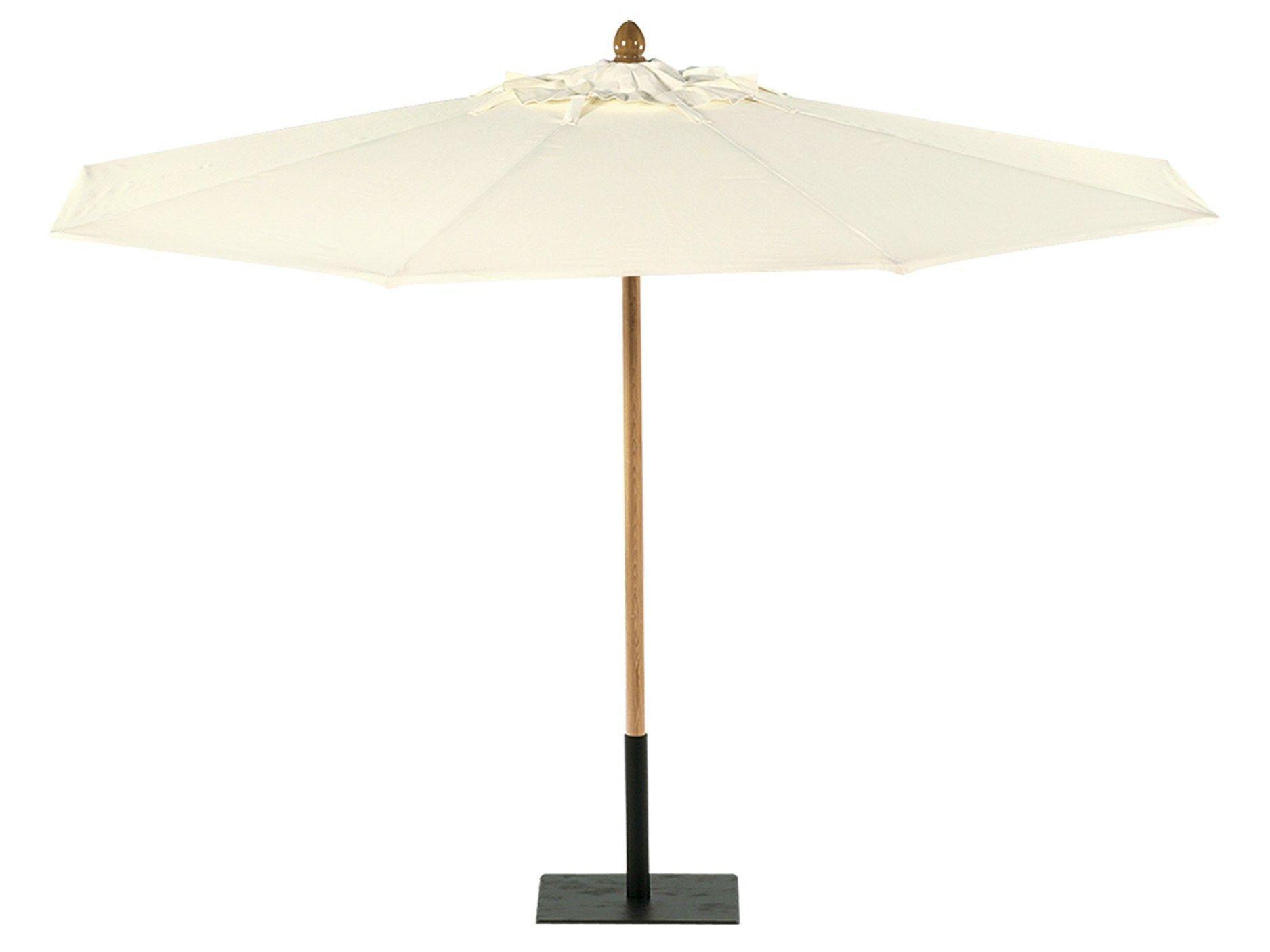 parasol ronde b che de coton parasol ronde tectona. Black Bedroom Furniture Sets. Home Design Ideas