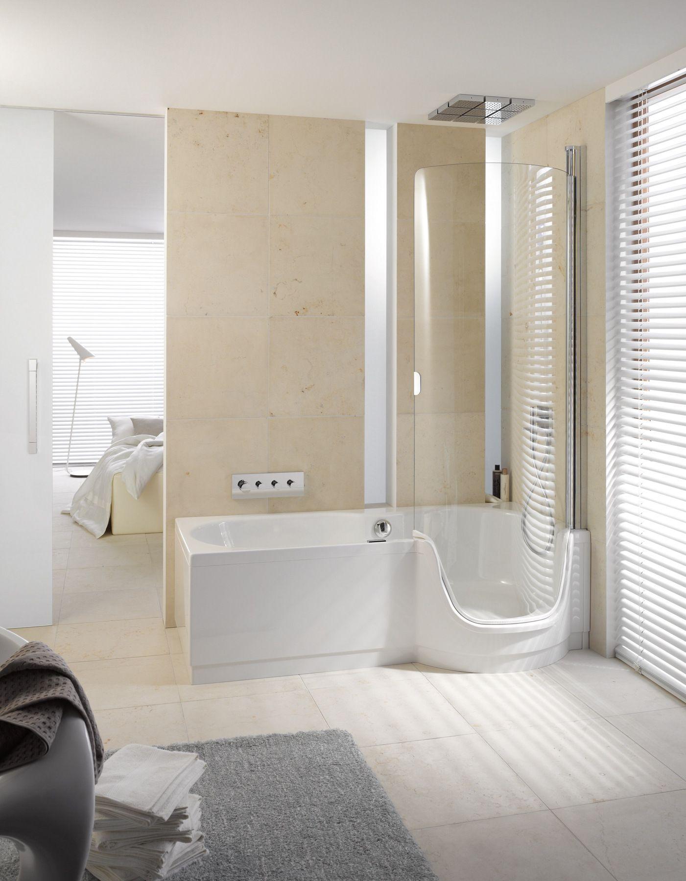 Vasca da bagno con doccia con porta bettetwist ii by bette - Vasca bagno con porta ...