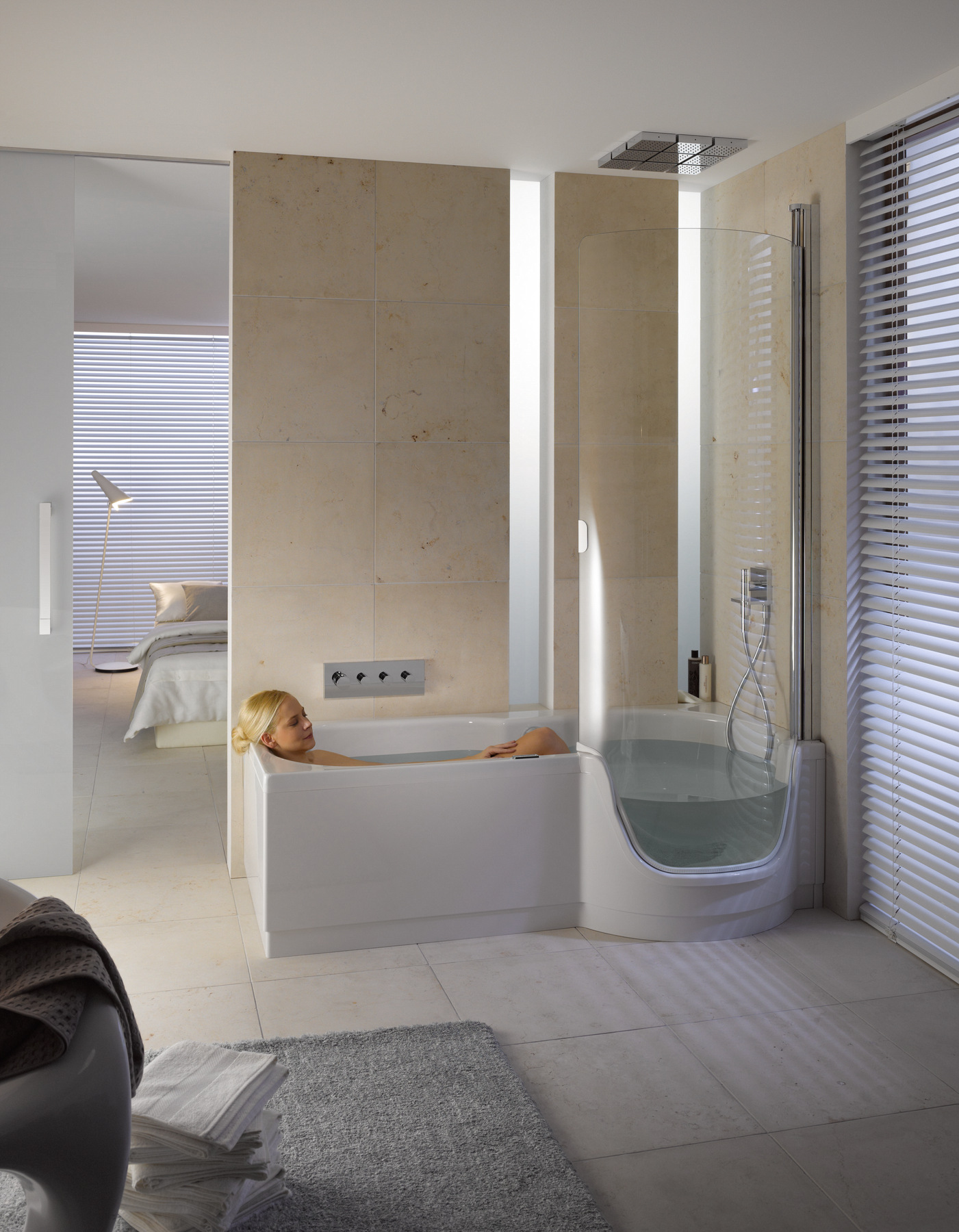 Ba era con ducha con puerta bettetwist ii by bette - Banera con ducha ...