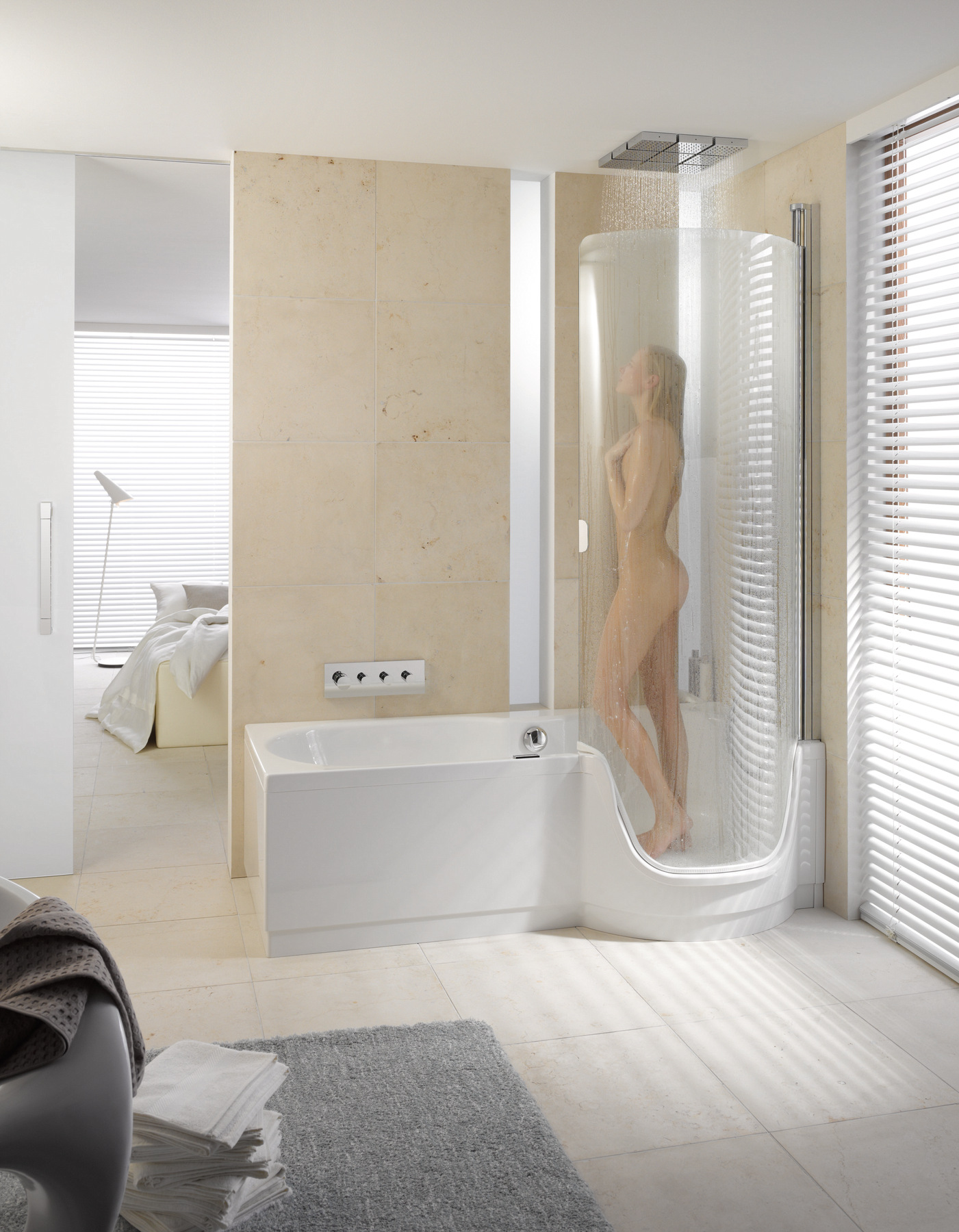 Ba era con ducha con puerta bettetwist ii by bette - Ducha con banera ...