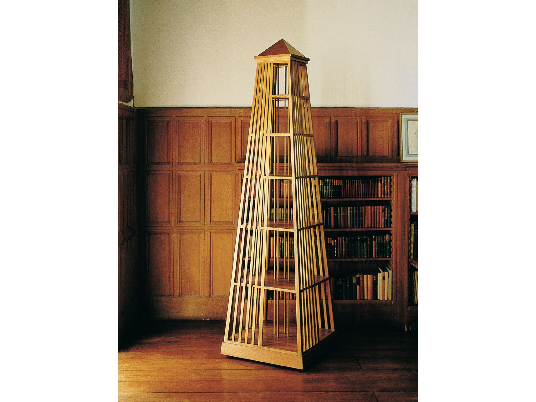 biblioth que ouverte sur pied pivotante en teck biblos by. Black Bedroom Furniture Sets. Home Design Ideas