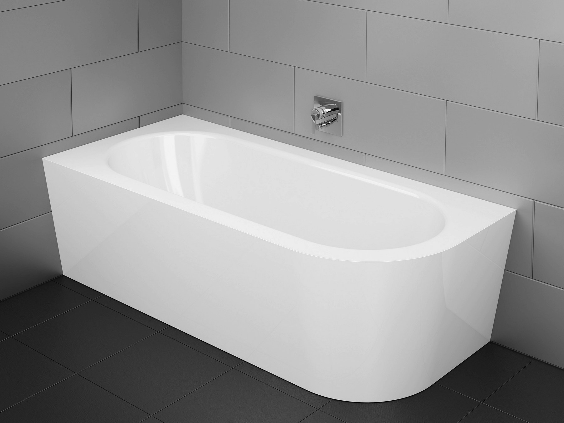 Vasca da bagno asimmetrica in acciaio smaltato BETTESTARLET IV SILHOUETTE by Bette design ...