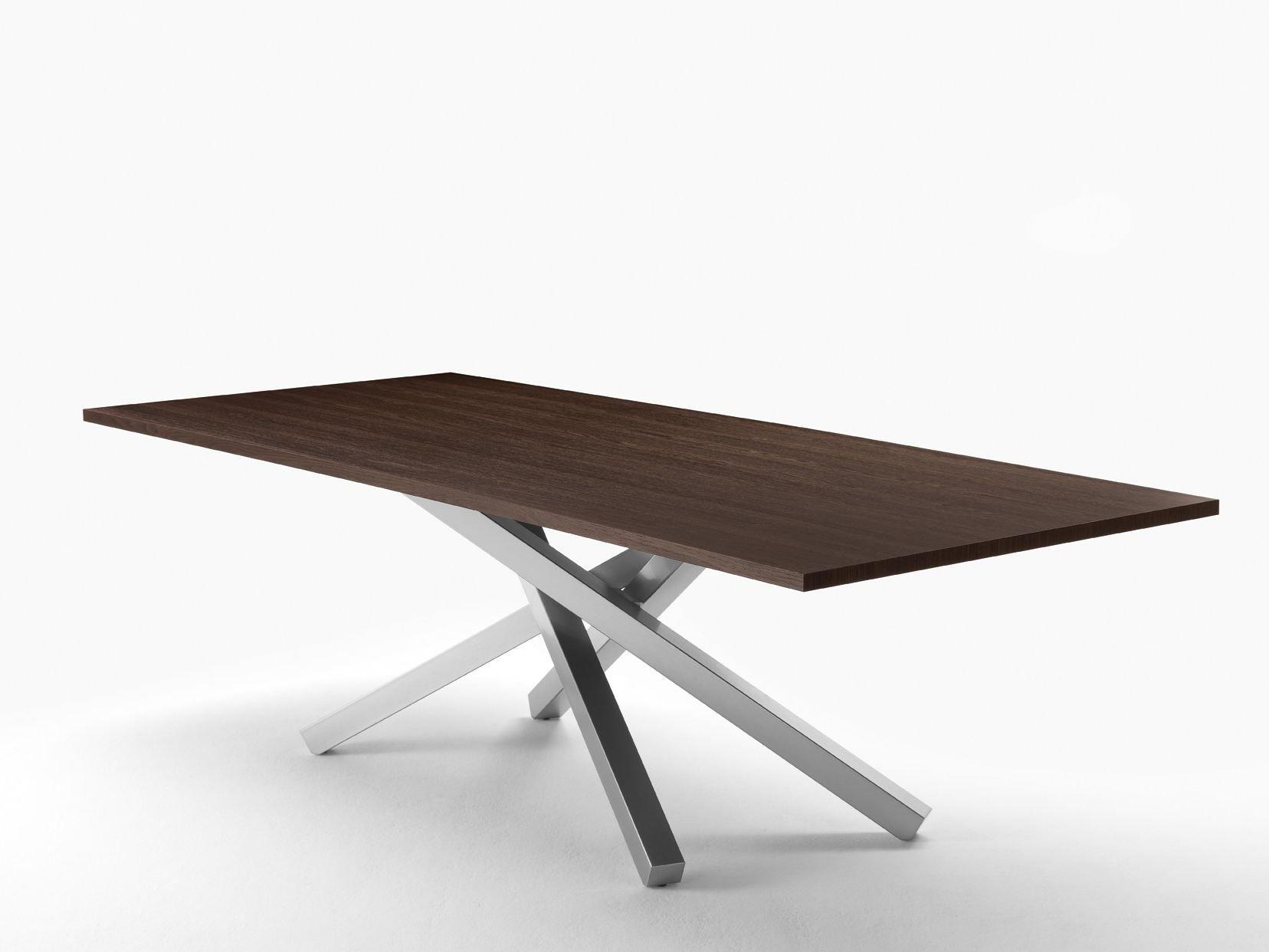 Pechino tavolo in acciaio e legno by midj design studiokappa for Tavoli in legno e acciaio