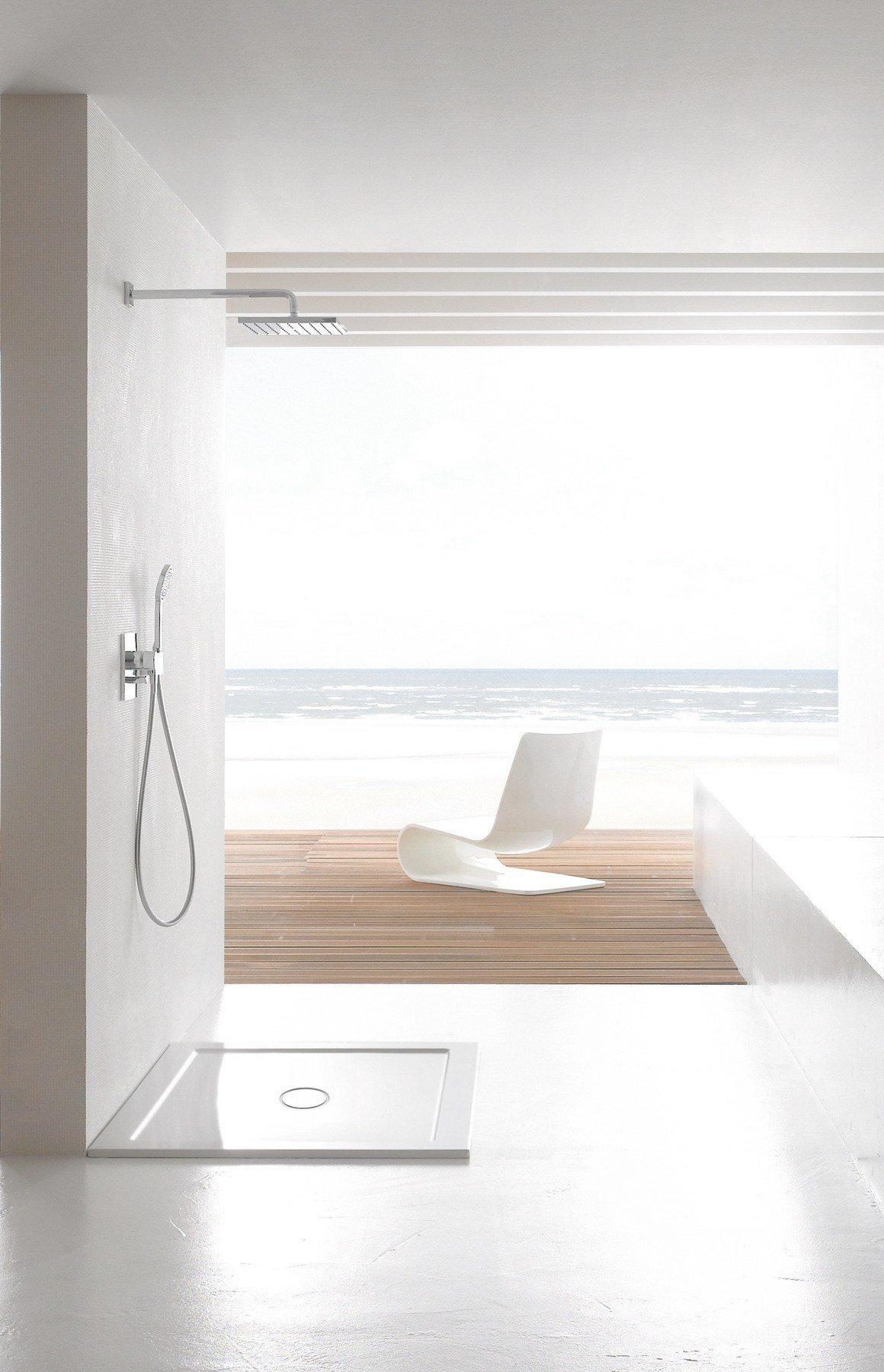 betteone shower tray by bette design tesseraux partner
