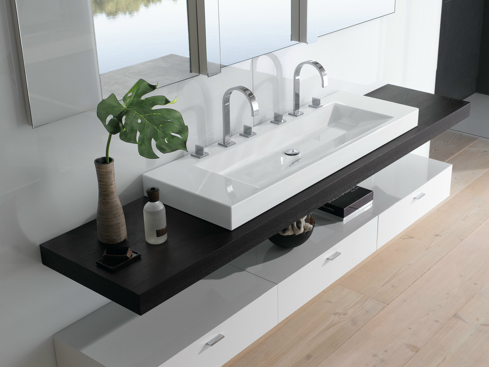 Betteaqua lavabo double by bette design schmiddem design for Lavabos doubles salle bain