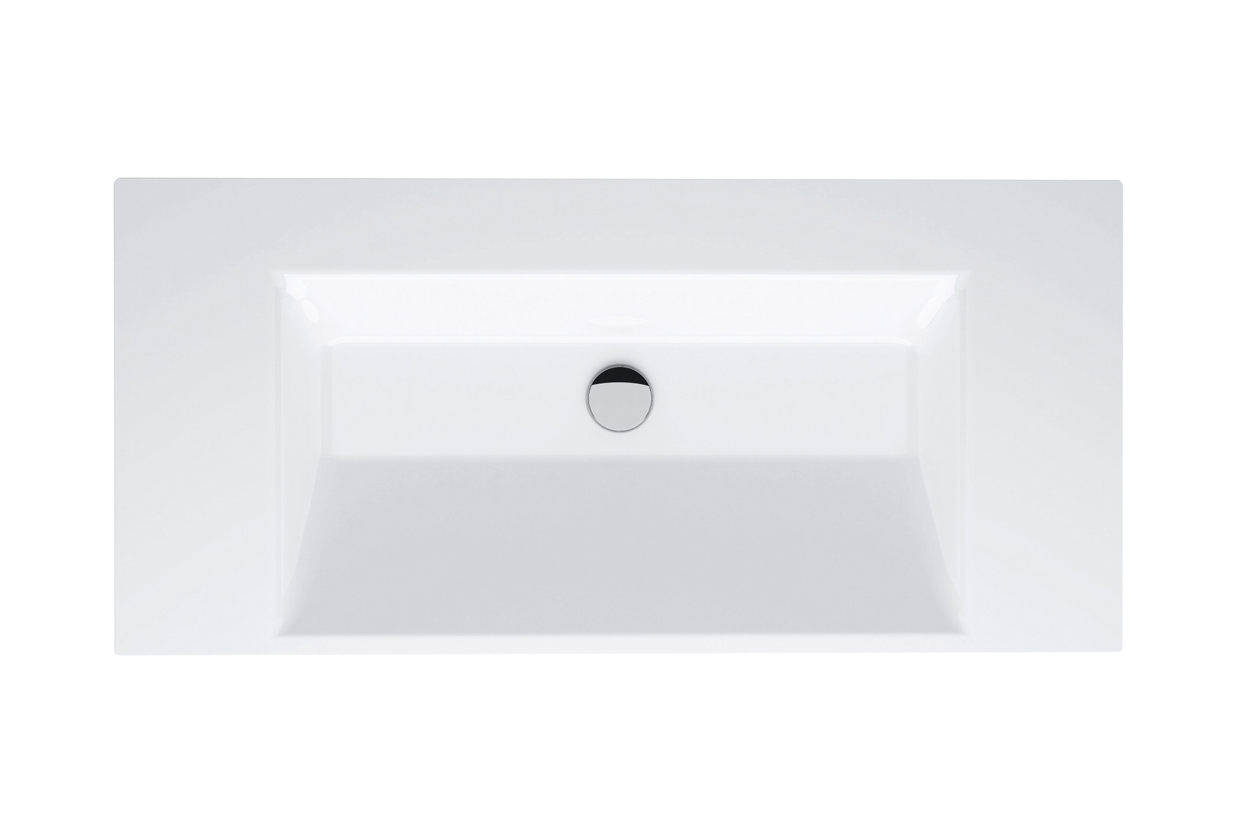 Betteaqua lavabo doble by bette dise o schmiddem design - Lavabo rectangular sobre encimera ...