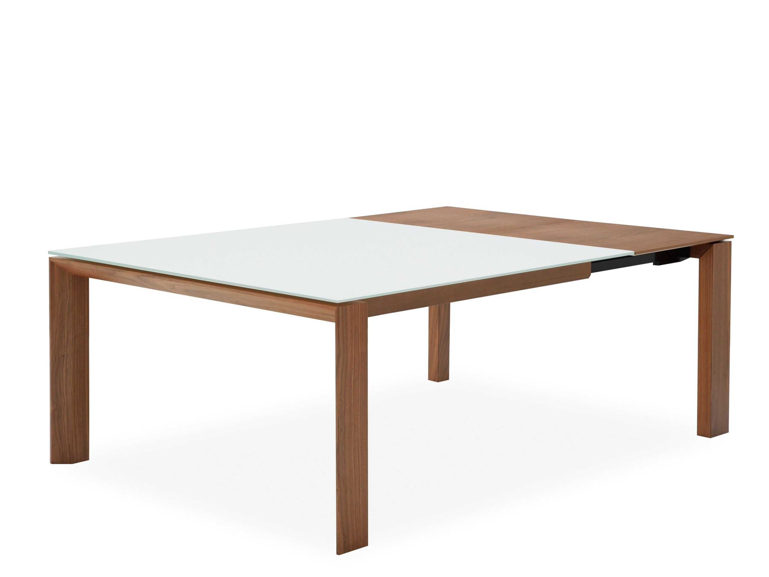 Omnia glass table en verre by calligaris design s t c for Table extensible calligaris