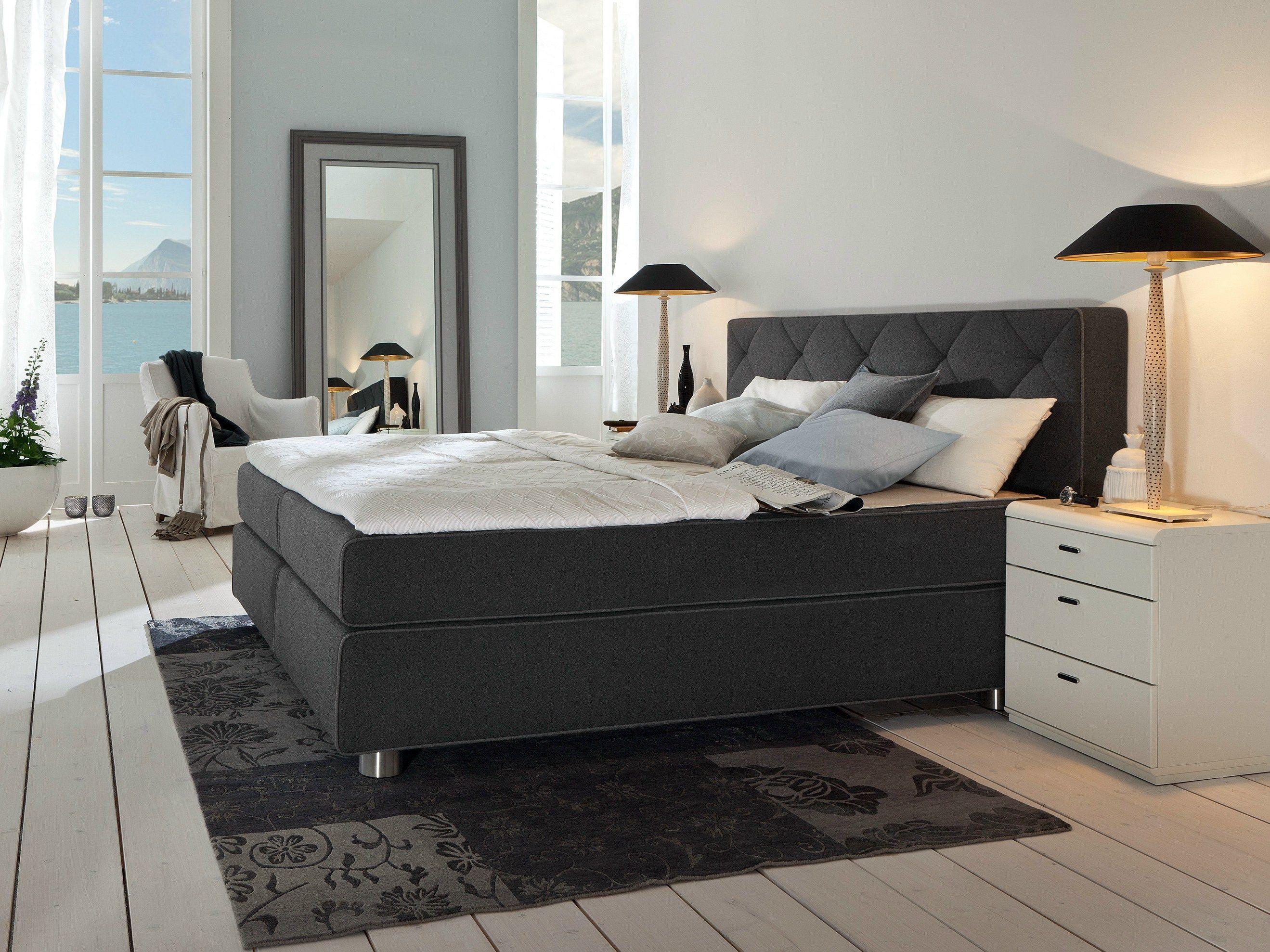 boxspring suite design bed by h lsta werke h ls. Black Bedroom Furniture Sets. Home Design Ideas
