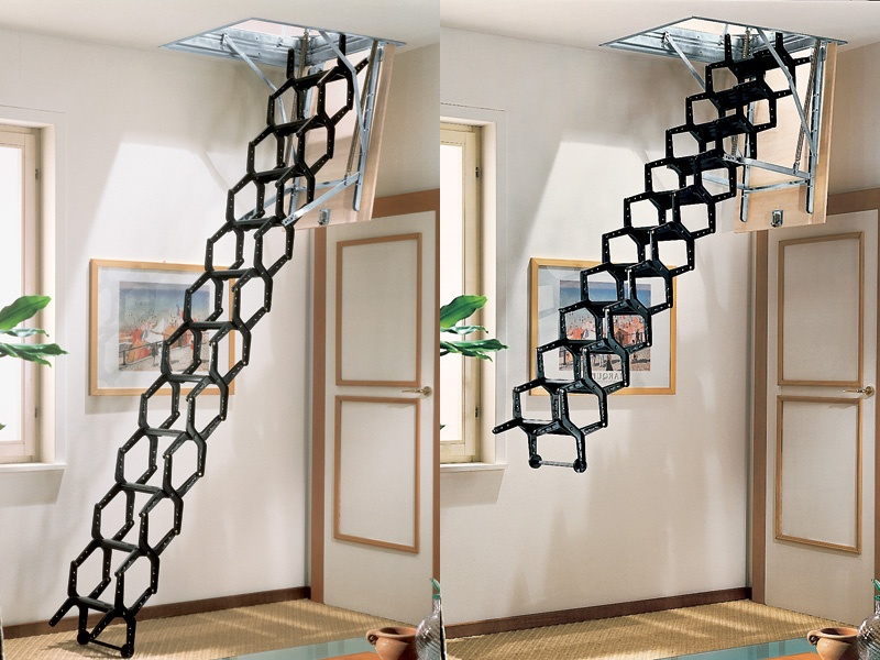 retractable stair adj by rintal. Black Bedroom Furniture Sets. Home Design Ideas