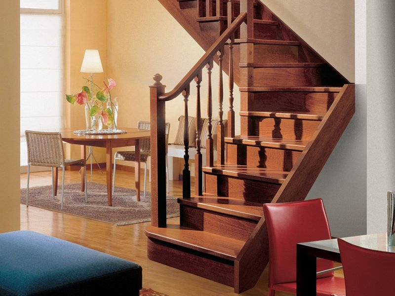 Wooden open staircase gara by rintal - Rintal scale forli ...