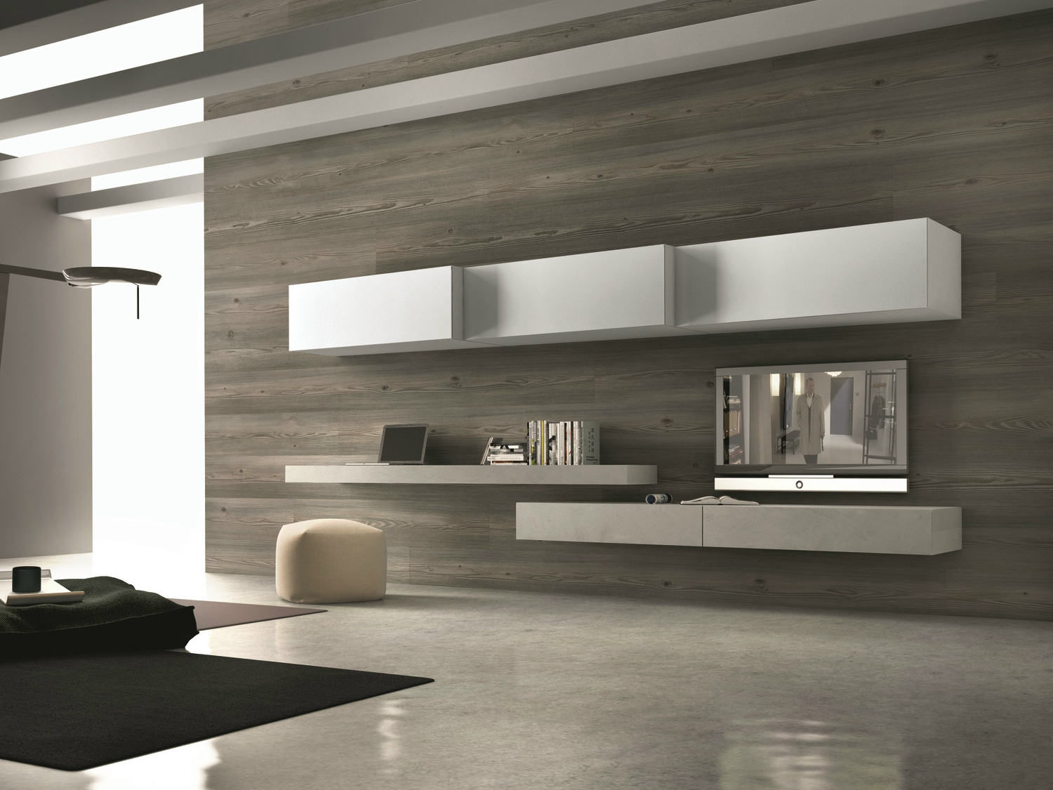 -mounted TV wall system InclinART - 262 by Presotto Industrie Mobili ...