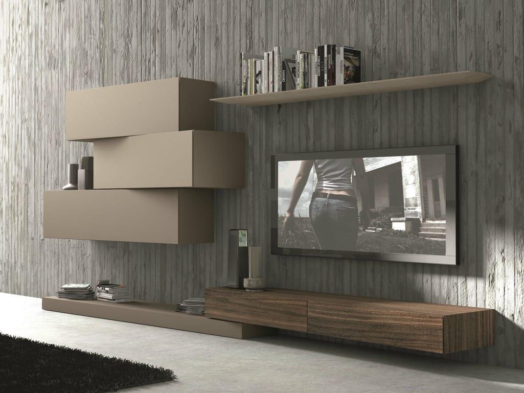 Anbau  wandmontierte tv  wohnwand inclinart   263 by presotto ...