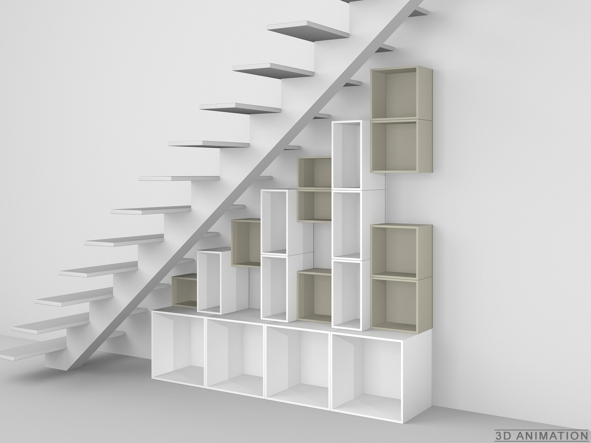 Modular shelving unit by cubit by mymito design cubit - Etagere murale sous tele ...