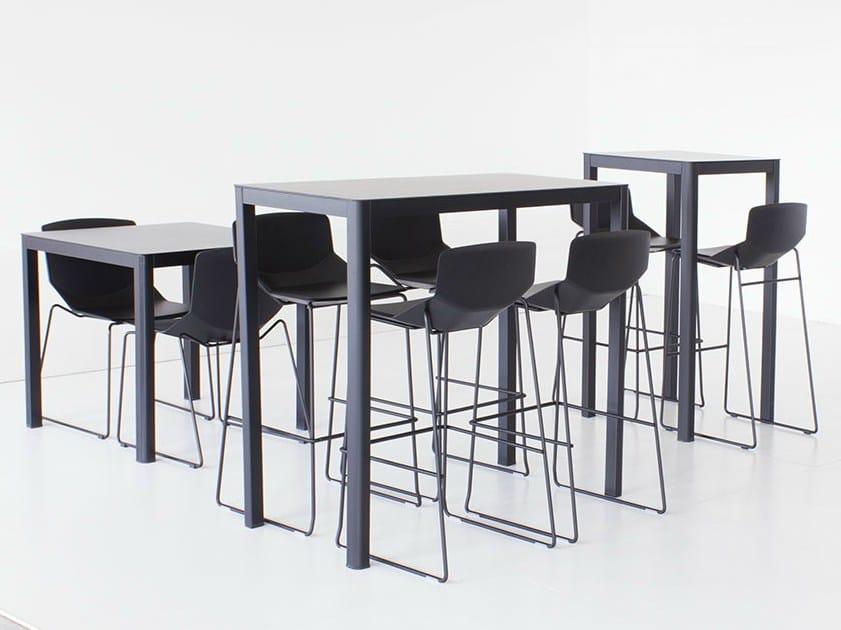 Mange debout rectangulaire pour chr la table 60x120 h110 - Table mange debout rectangulaire ...