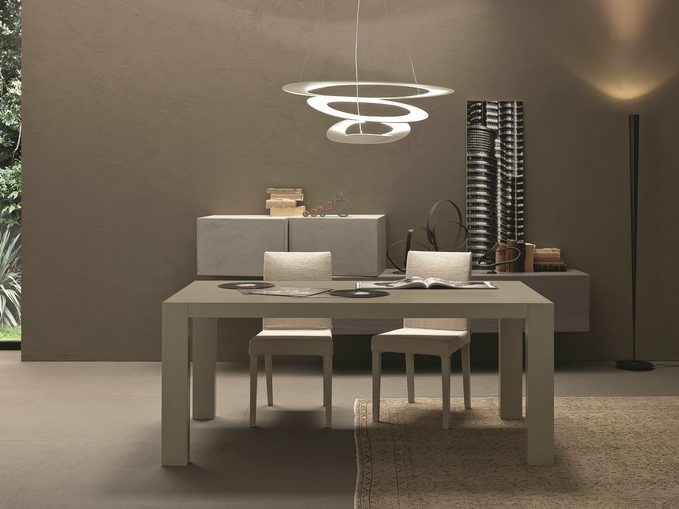 Table extensible rectangulaire en bois opla 39 by presotto for Presotto industrie mobili