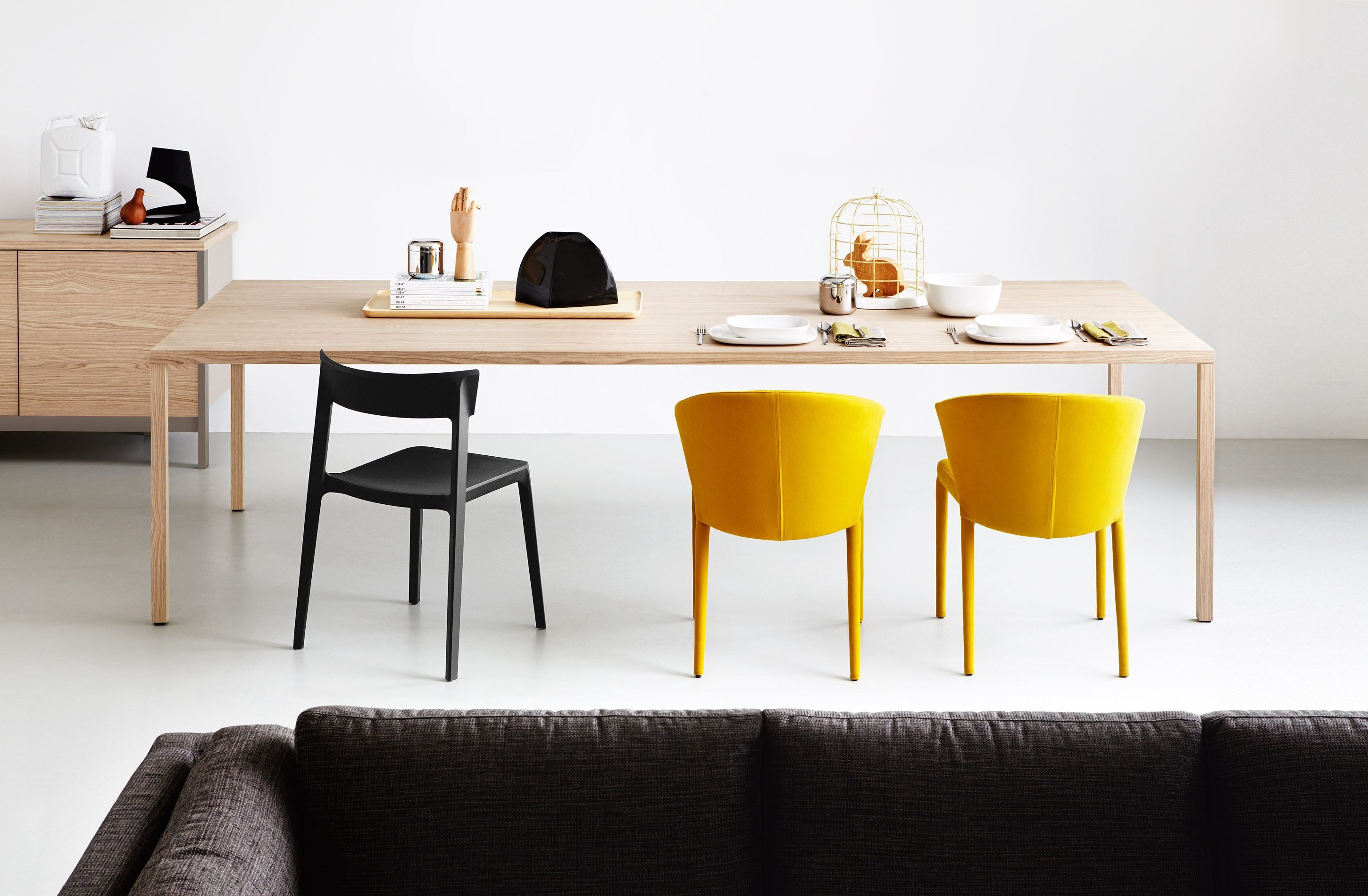 Heron wood by calligaris for Sedia tavolo pranzo