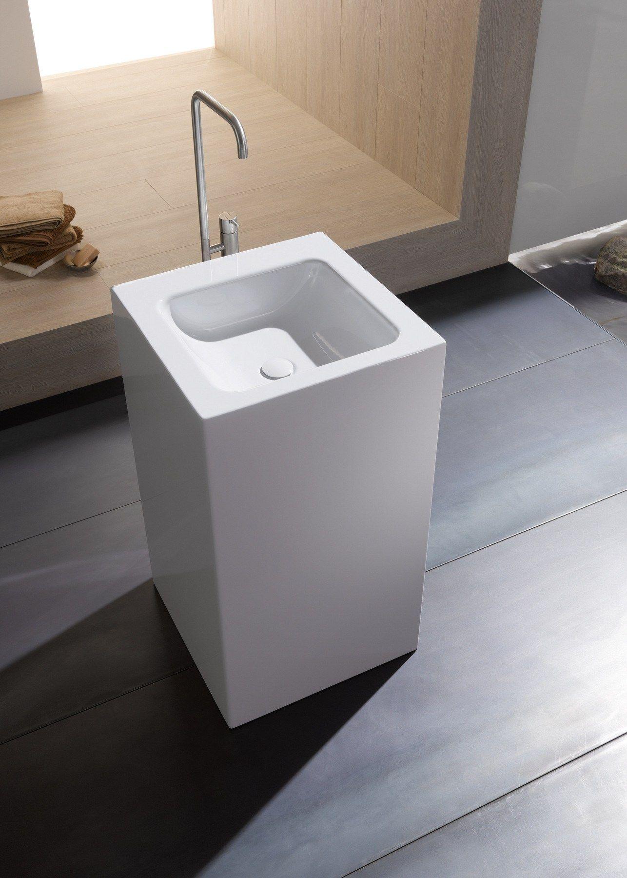 lavabo sur pied carr simple betteone monolith by bette. Black Bedroom Furniture Sets. Home Design Ideas