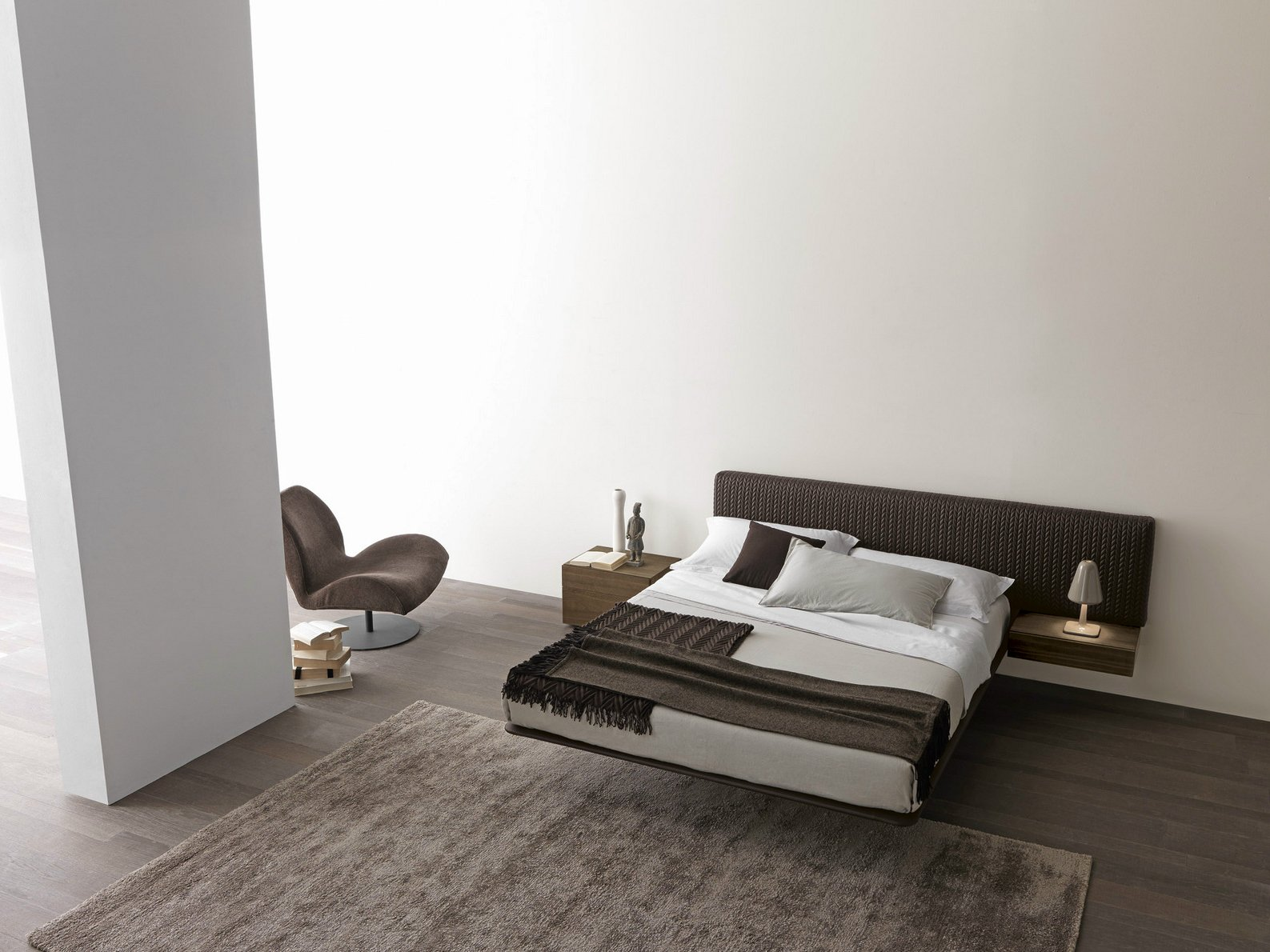 Wing system letto matrimoniale by presotto industrie for Letto presotto